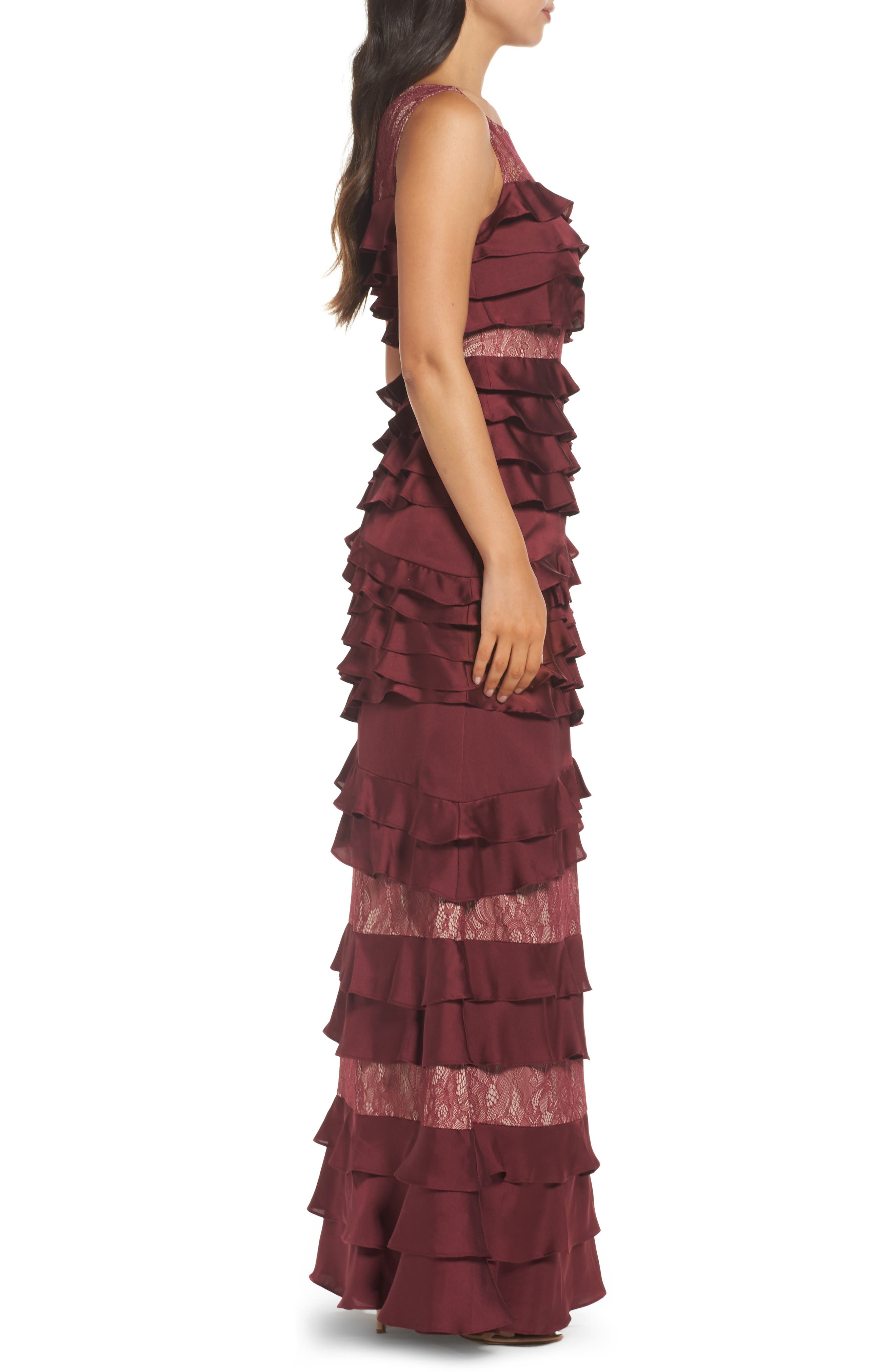 Mixed Media Gown,                             Alternate thumbnail 3, color,                             606