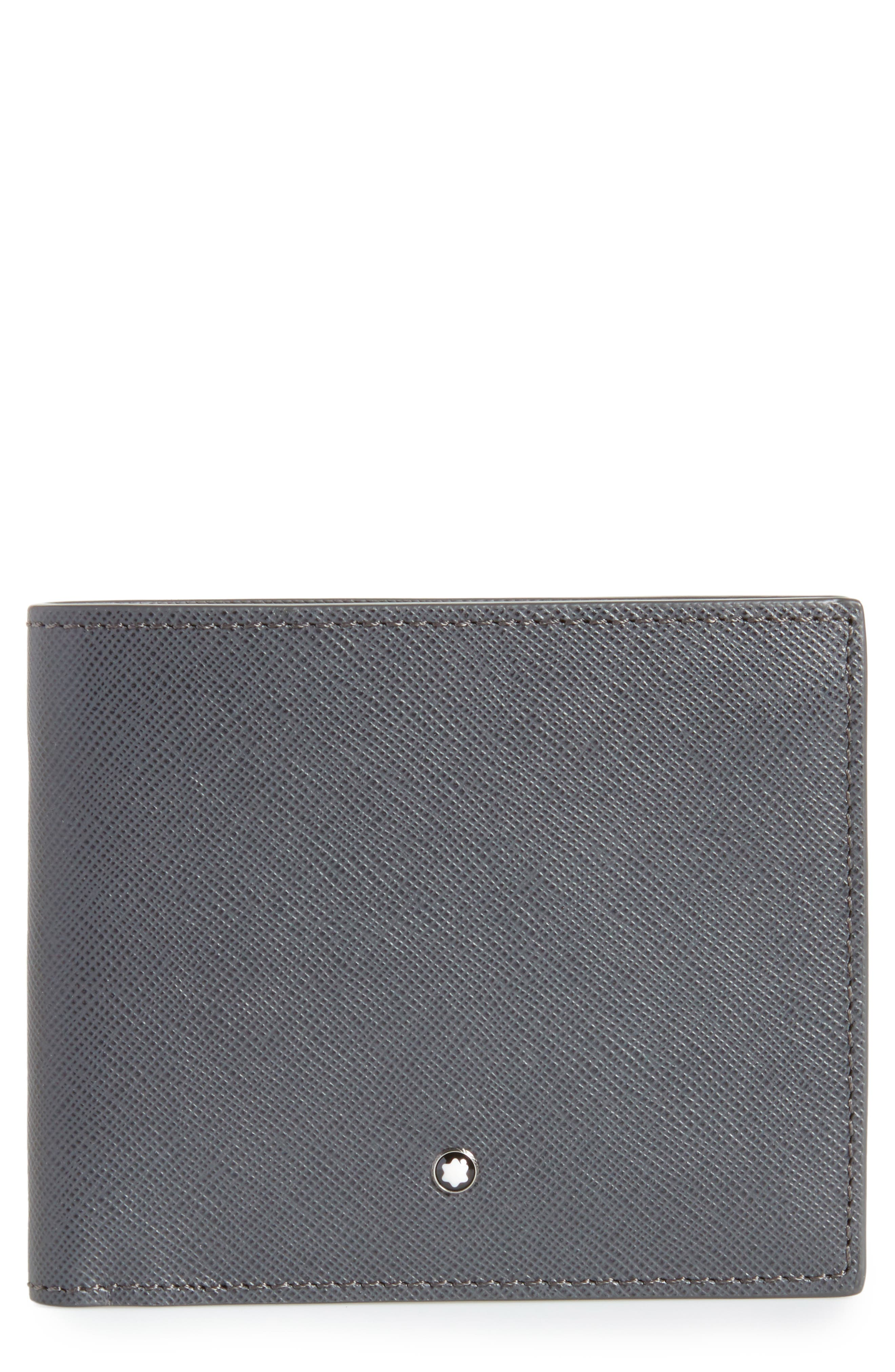 Sartorial Leather Bifold Wallet,                             Main thumbnail 1, color,                             DARK GREY