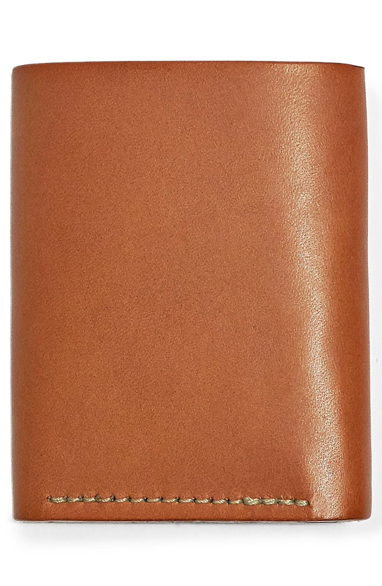 Leather Trifold Leather Wallet,                             Alternate thumbnail 5, color,