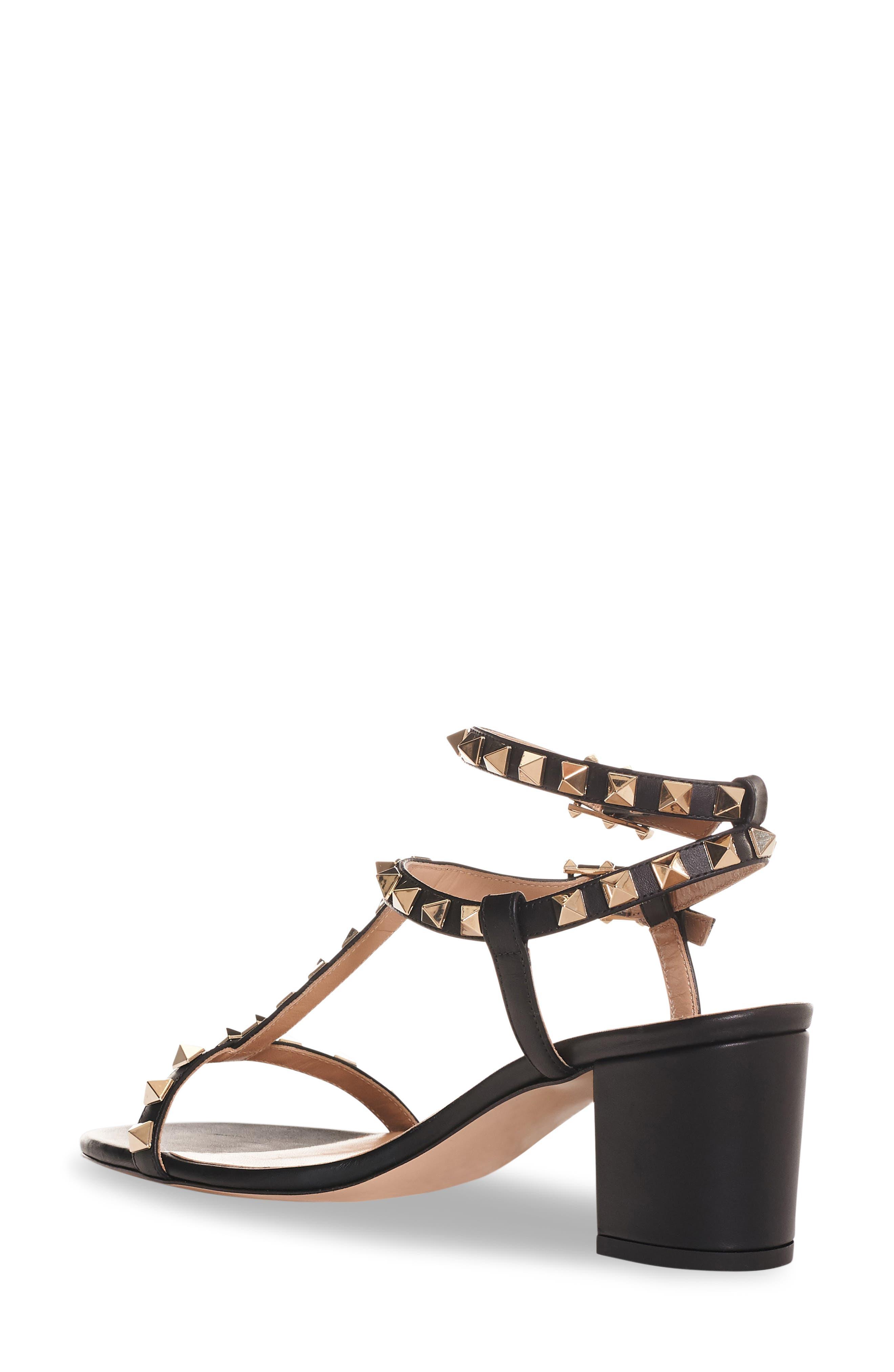 Rockstud Ankle Strap Sandal,                             Main thumbnail 1, color,