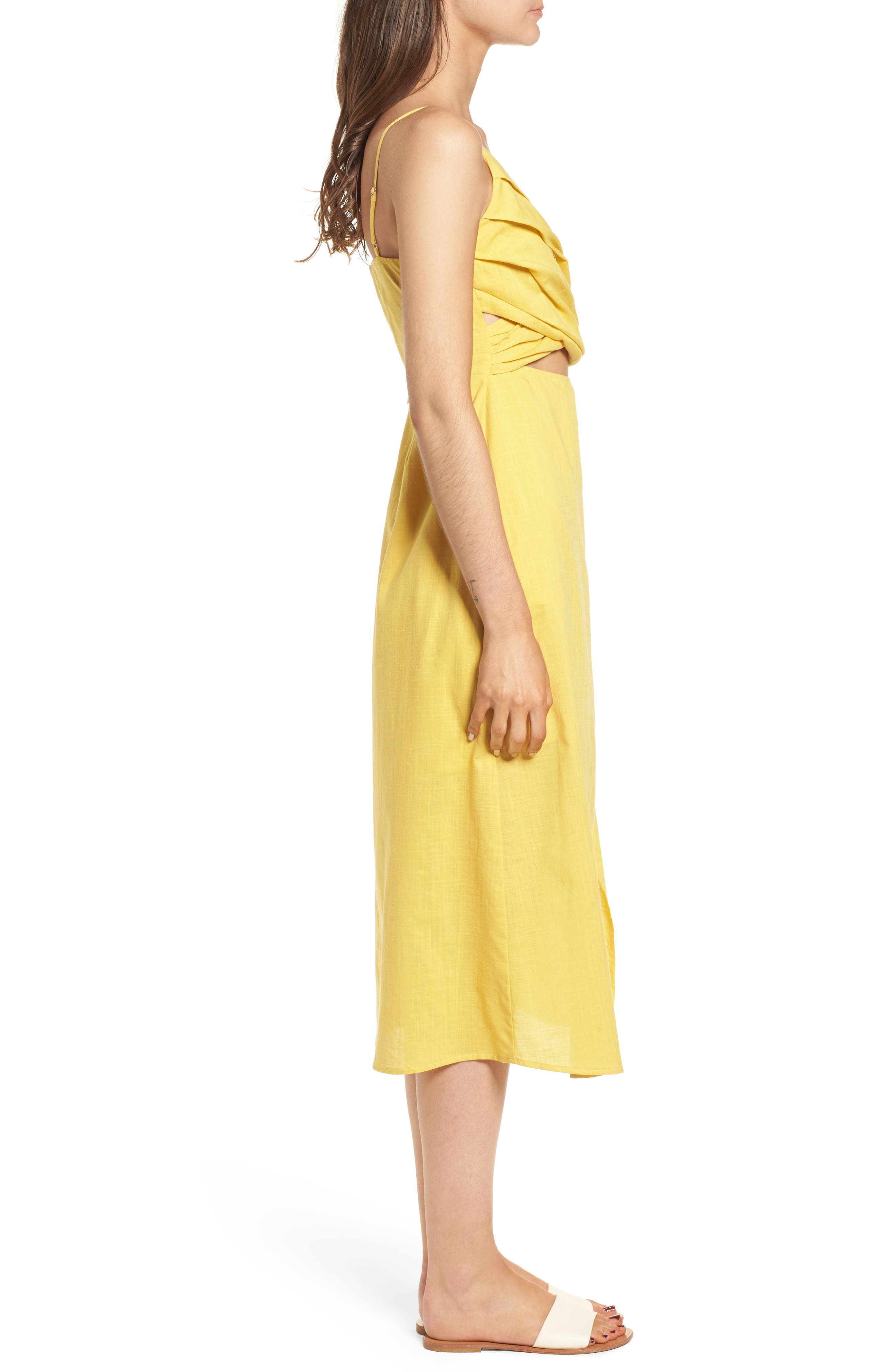 ---,                             Cutout Midi Dress,                             Alternate thumbnail 3, color,                             700