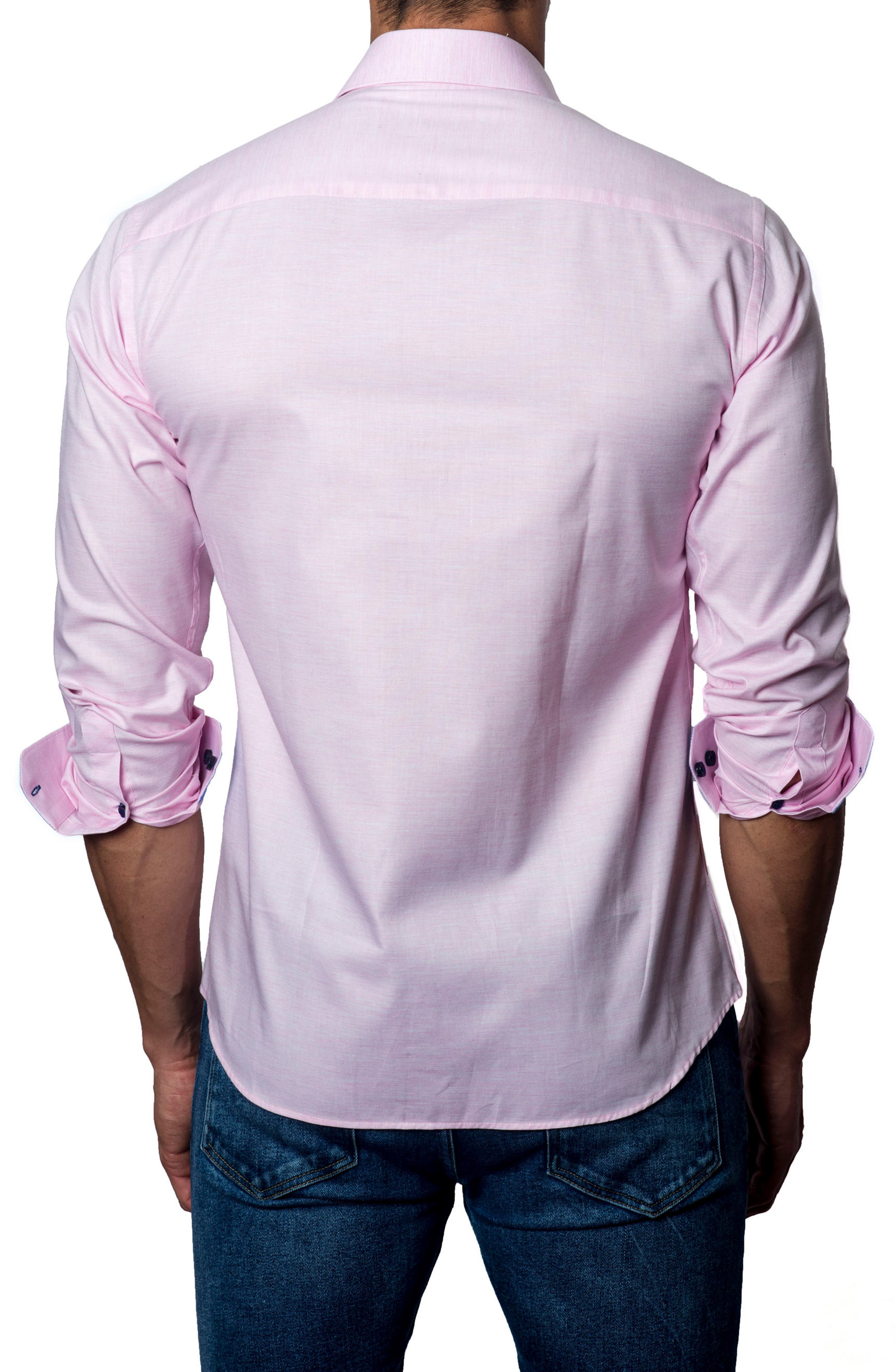 JARED LANG,                             Trim Fit Sport Shirt,                             Alternate thumbnail 2, color,                             680