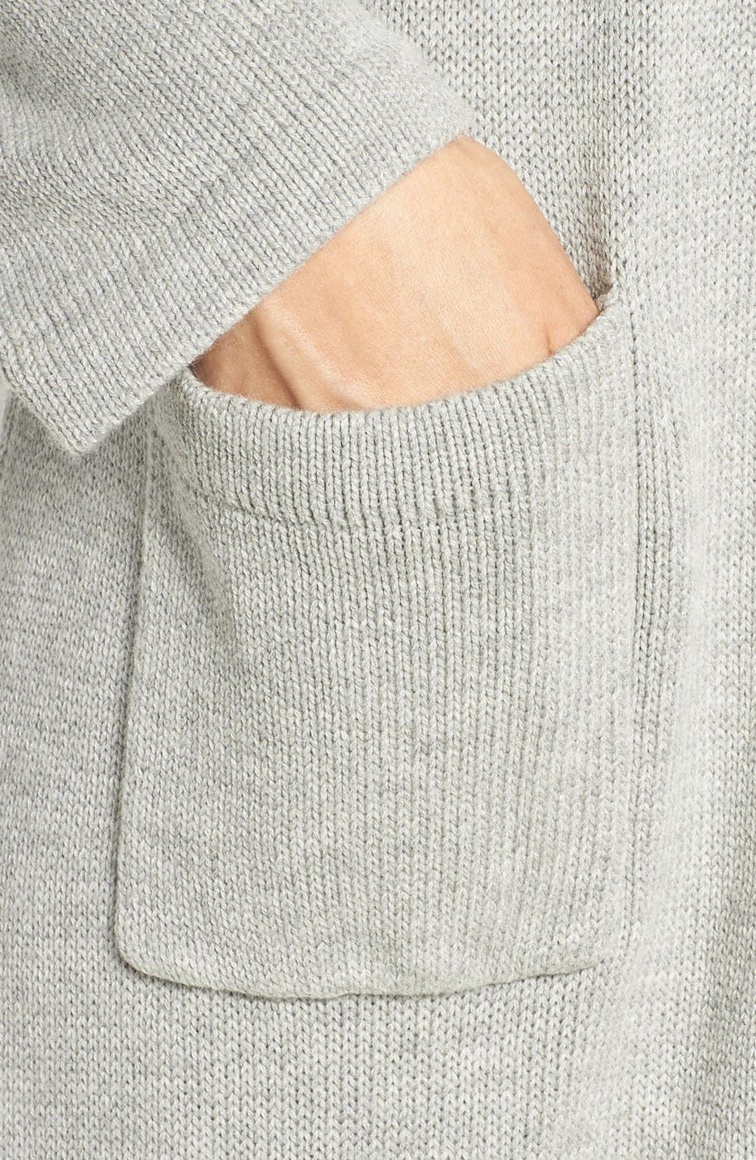 'Ballet' Knit Cotton Blend Robe,                             Alternate thumbnail 6, color,