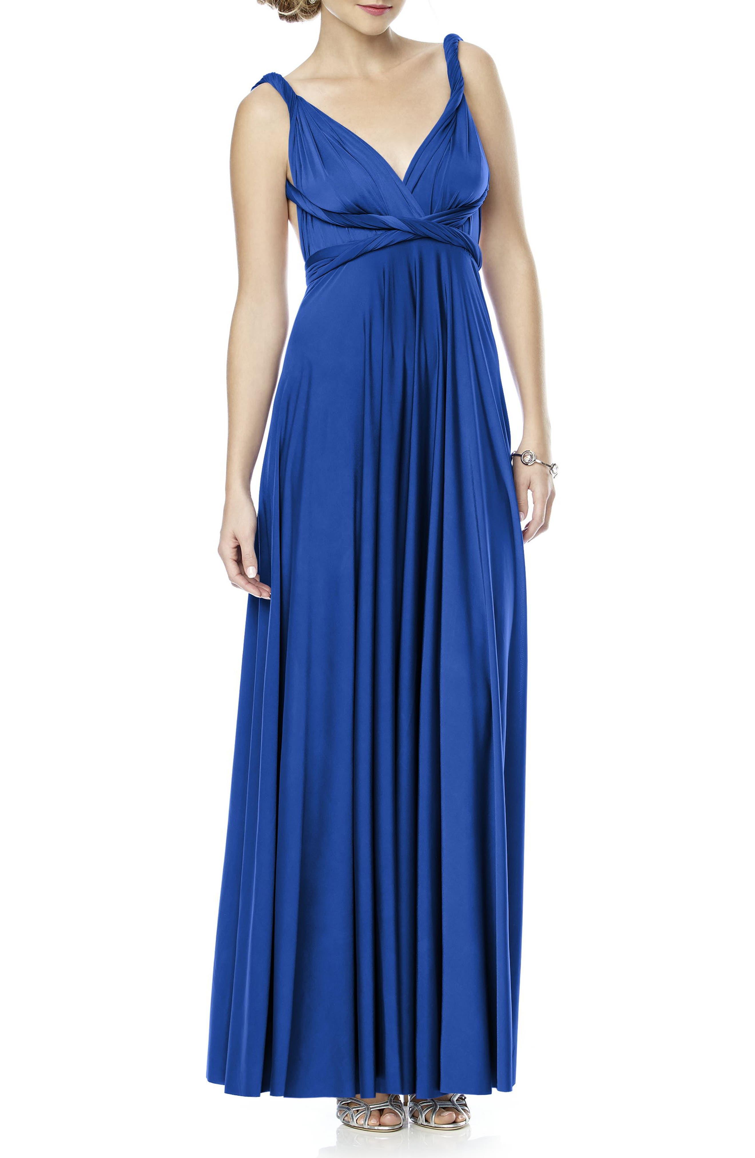 Convertible Wrap Tie Surplice Jersey Gown,                             Alternate thumbnail 33, color,