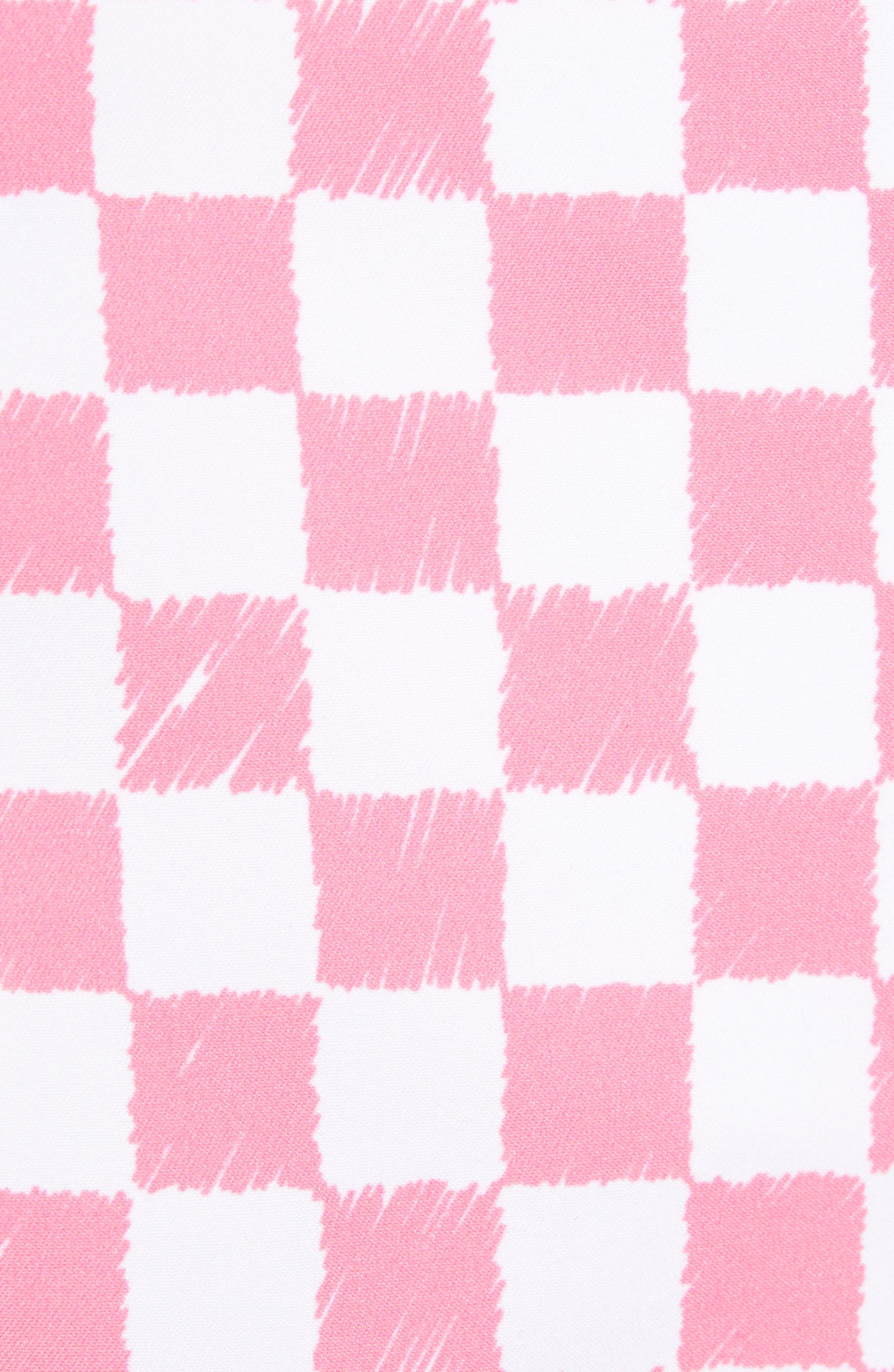 Check Mates Swim Trunks,                             Alternate thumbnail 5, color,                             PINK
