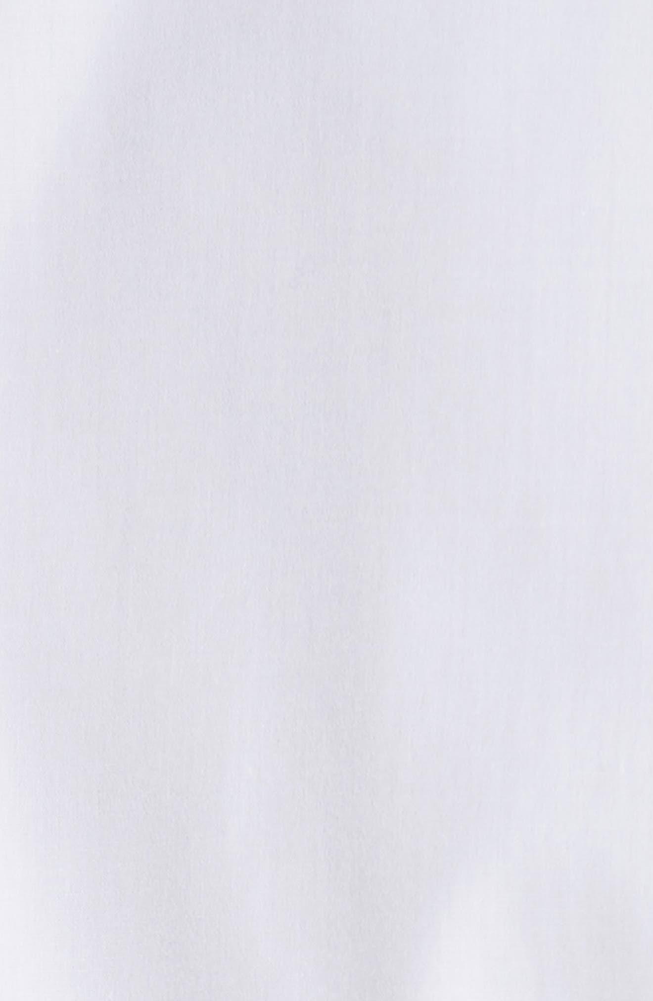 Extra Trim Fit Cotton Dress Shirt,                             Alternate thumbnail 5, color,                             100