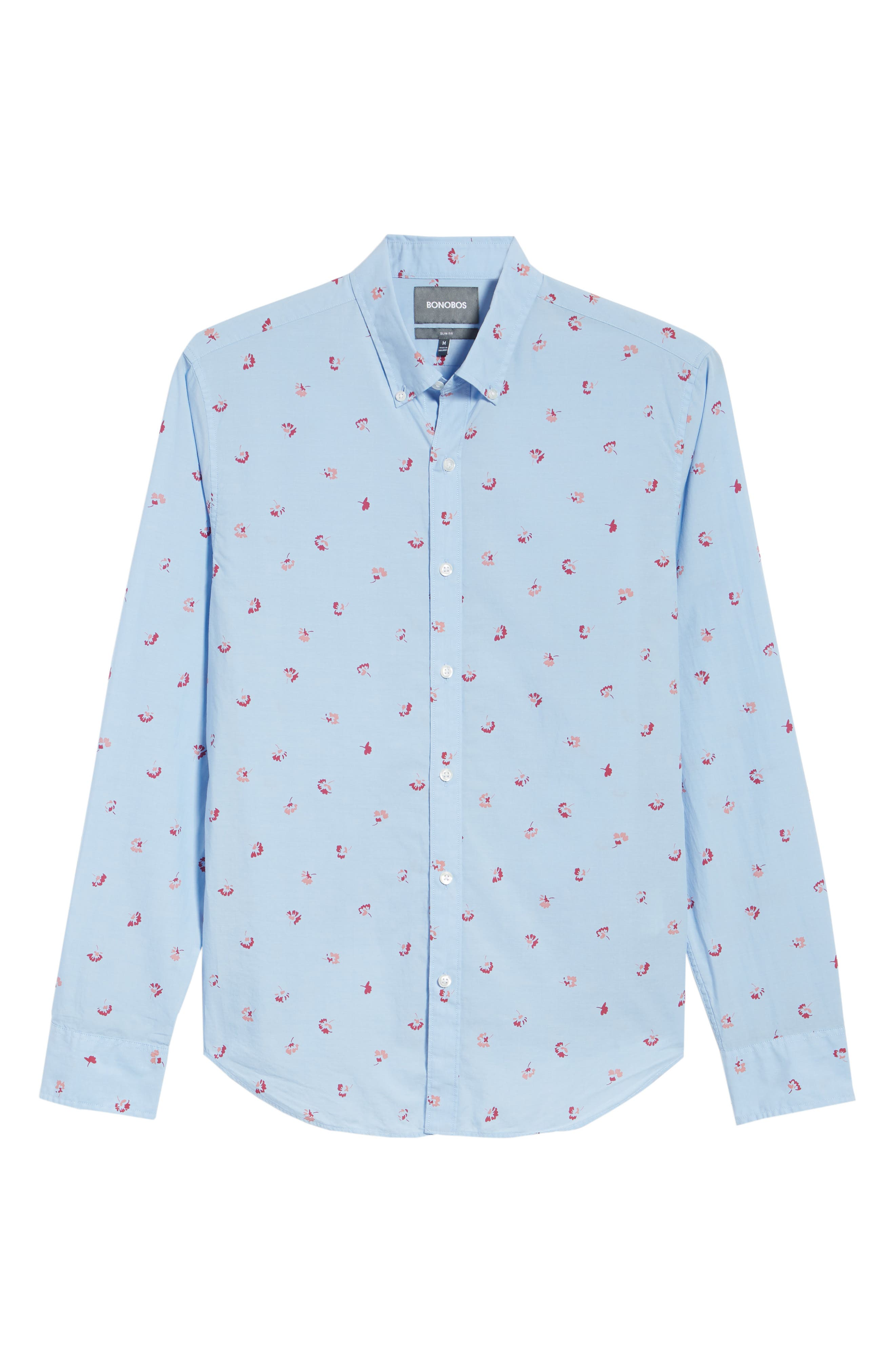 Slim Fit Floral Sport Shirt,                             Alternate thumbnail 6, color,