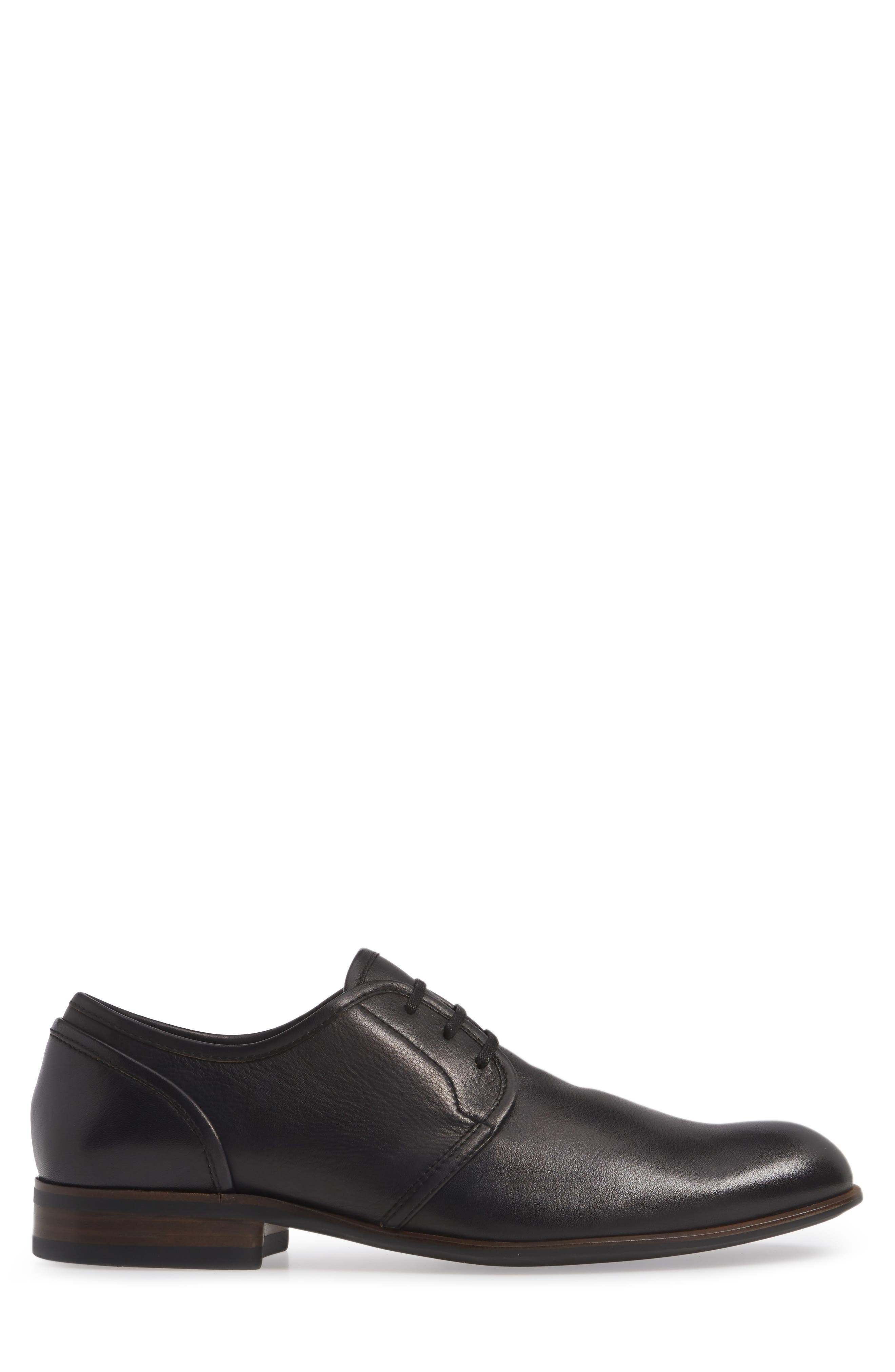 Star USA Seagher Plain Toe Derby,                             Alternate thumbnail 3, color,                             BLACK