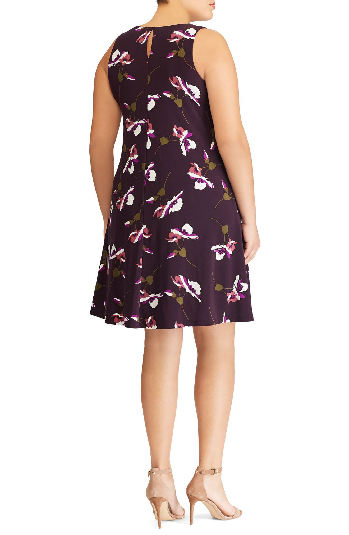 Suzan Scattered Poppies Shift Dress,                             Alternate thumbnail 2, color,                             400