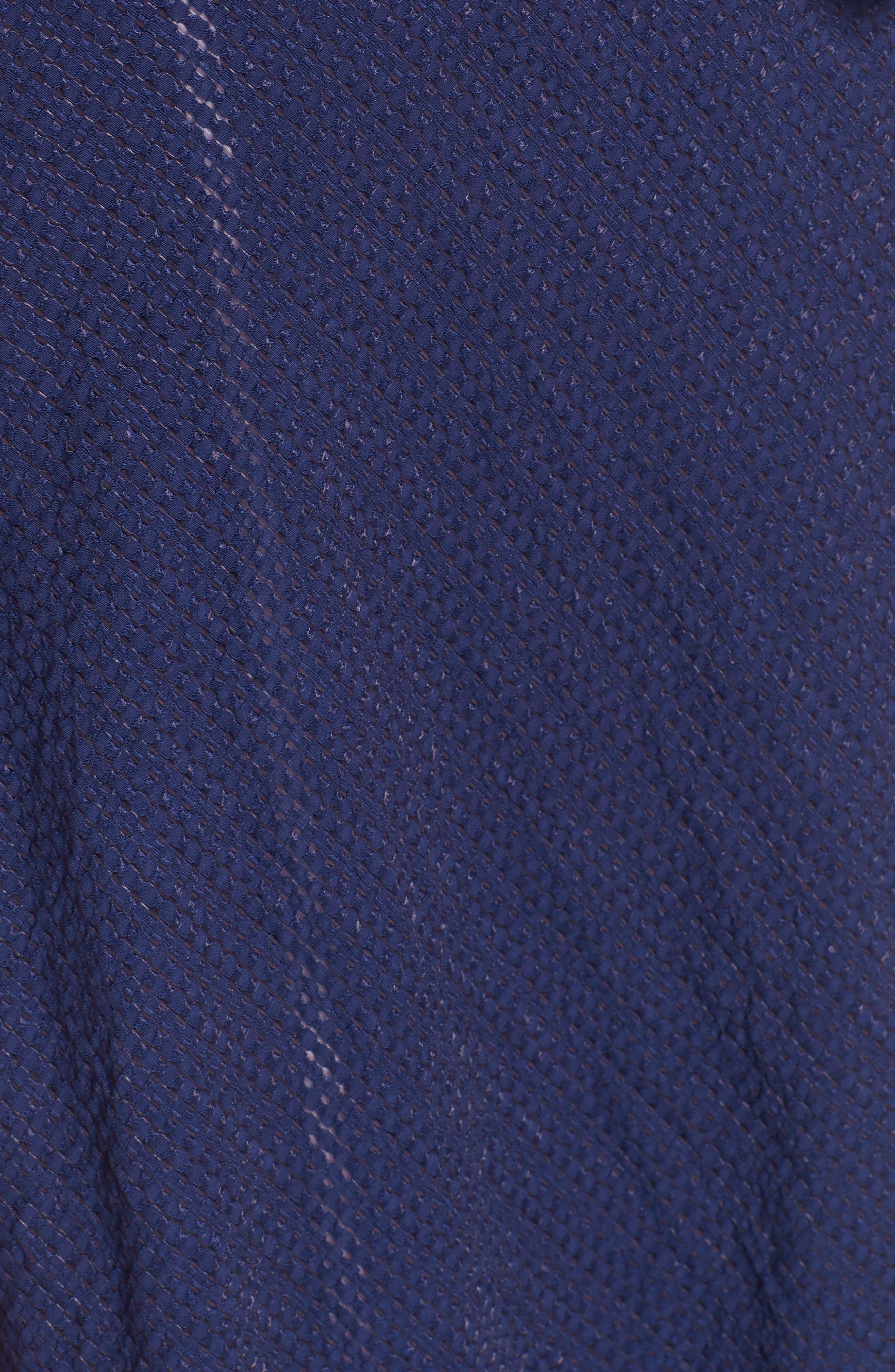 Midi Wrap Style Dress,                             Alternate thumbnail 5, color,