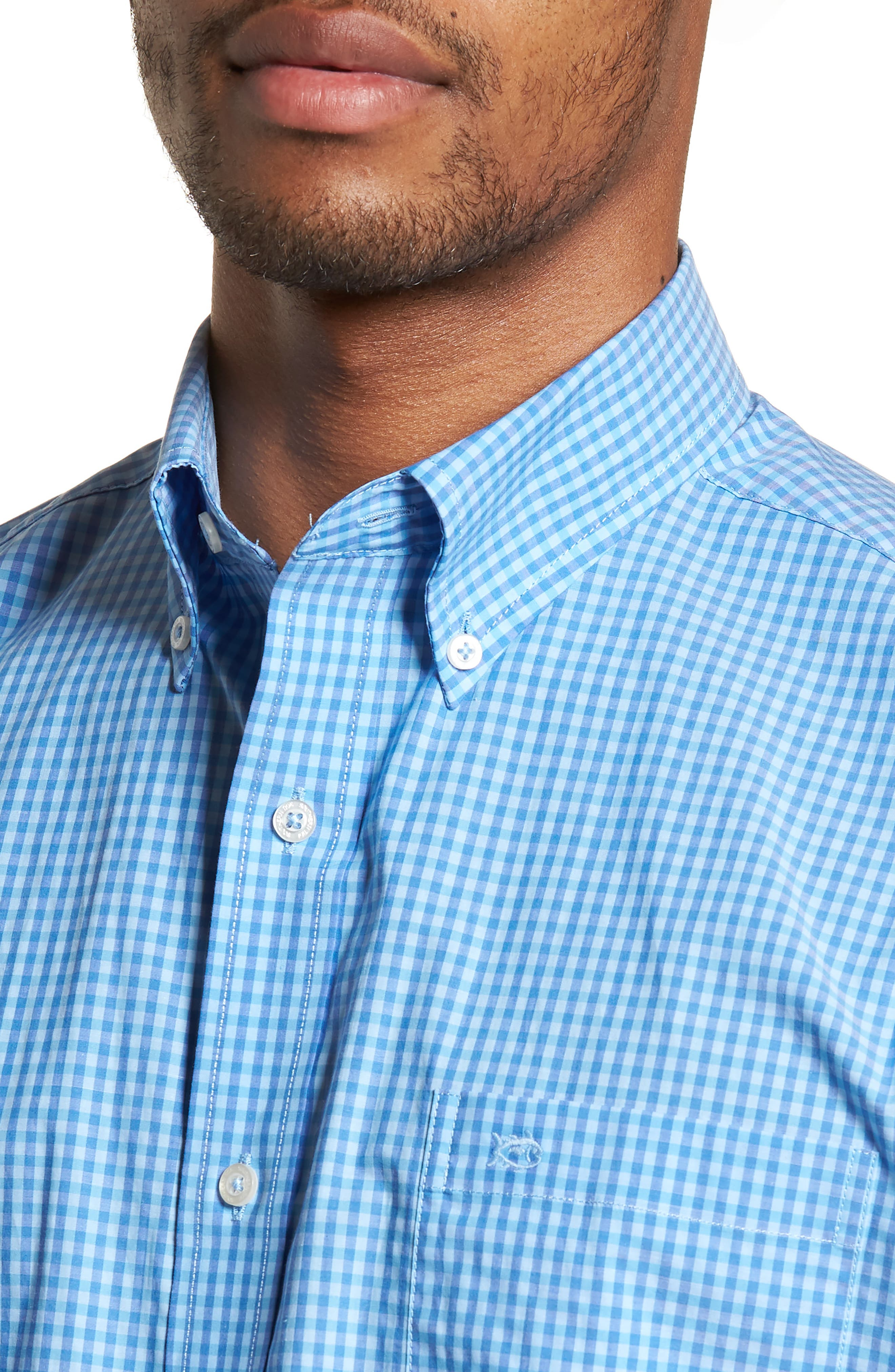 Camana Bay Regular Fit Check Stretch Sport Shirt,                             Alternate thumbnail 4, color,                             392