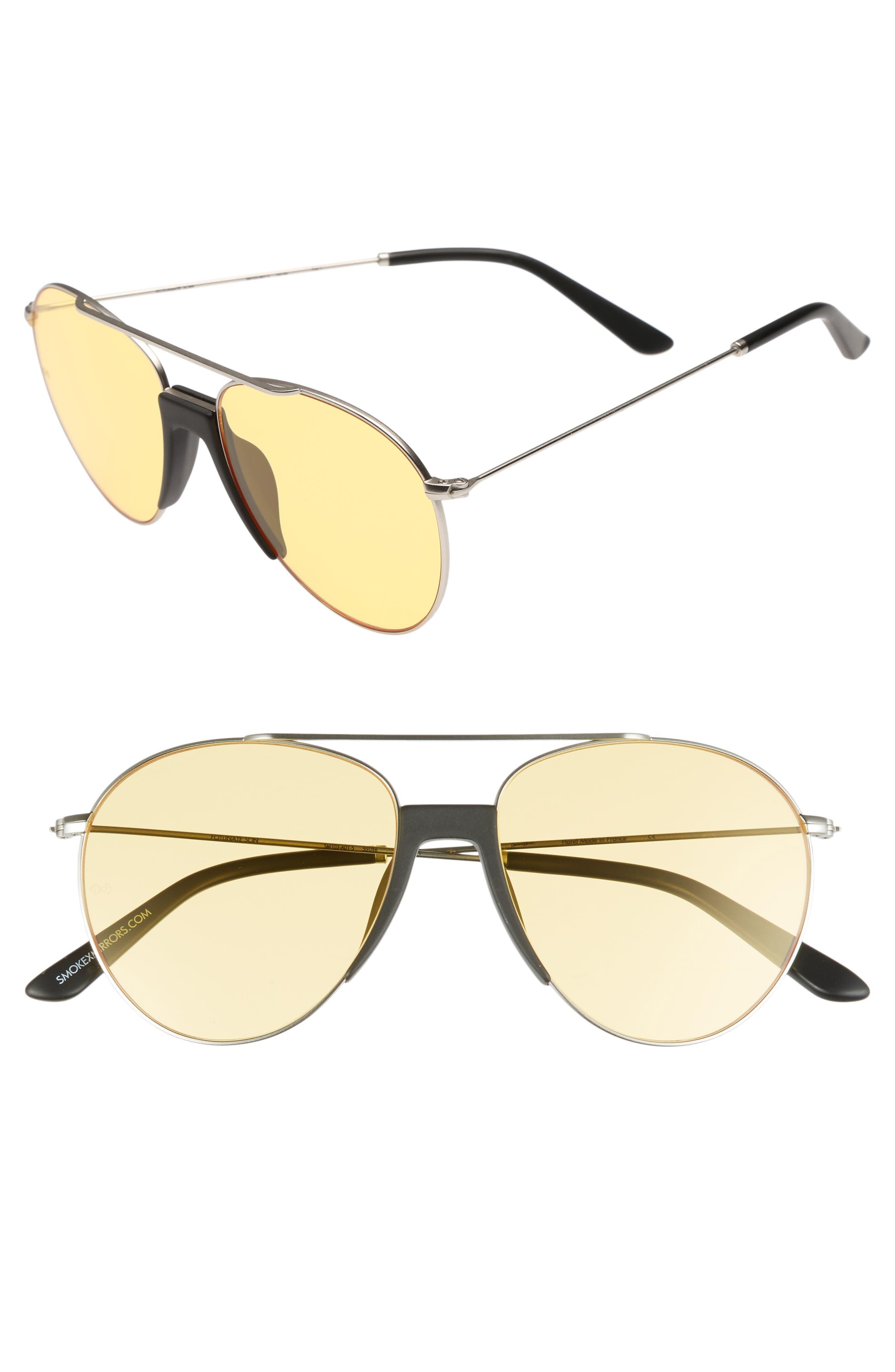Fortunate Son 53mm Aviator Sunglasses,                         Main,                         color, 001