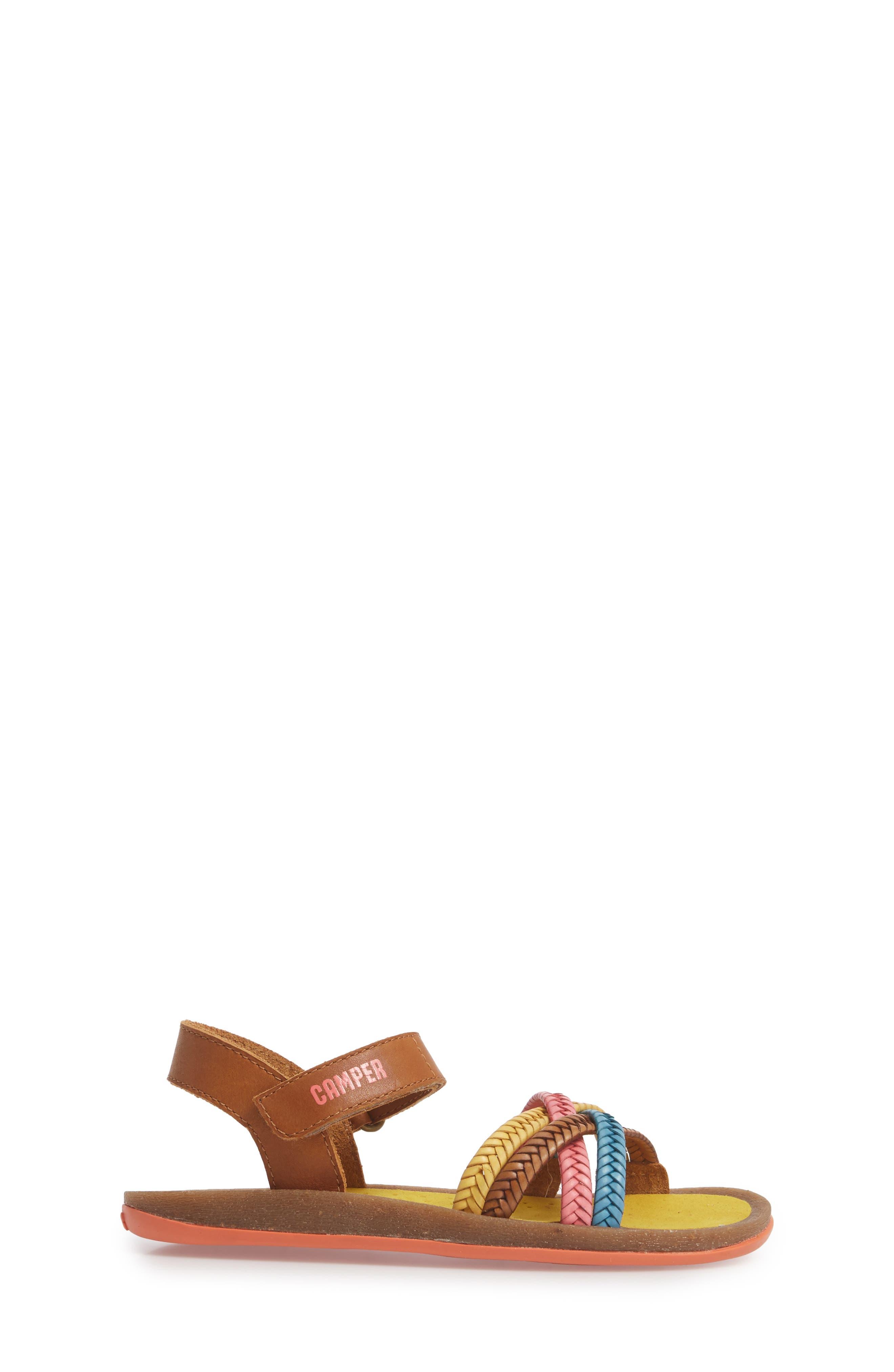 Bicho Braided Sandal,                             Alternate thumbnail 3, color,                             MULTI