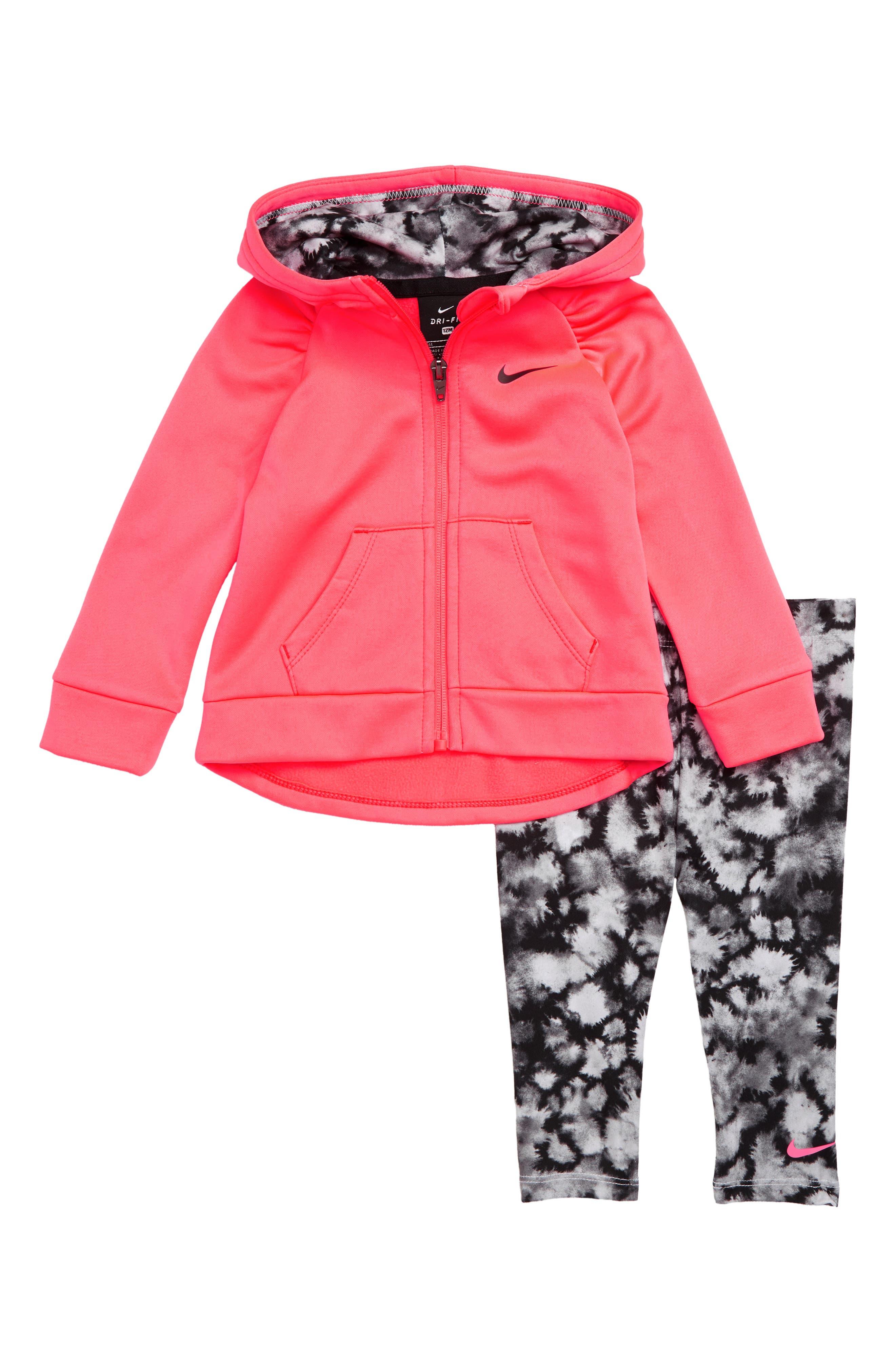 Infant Girls Nike Therma Zip Hoodie  Leggings Set