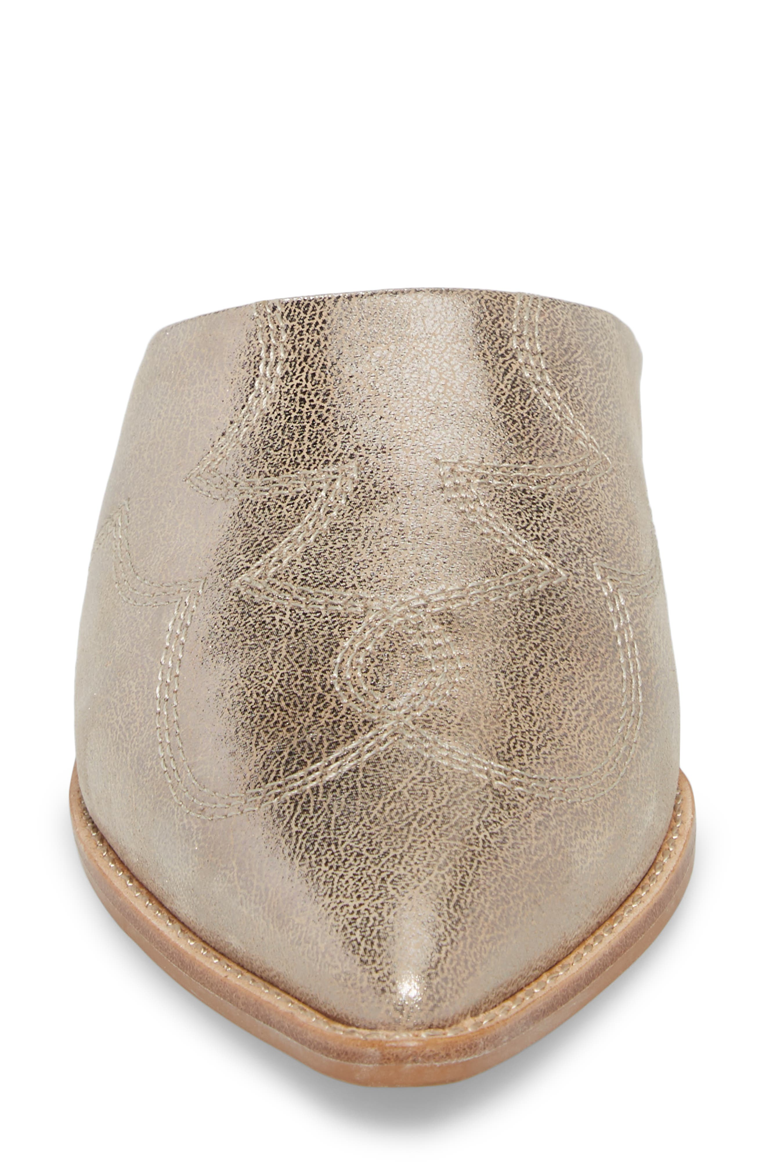 Aubrey Mule,                             Alternate thumbnail 4, color,                             GOLD METALLIC LEATHER