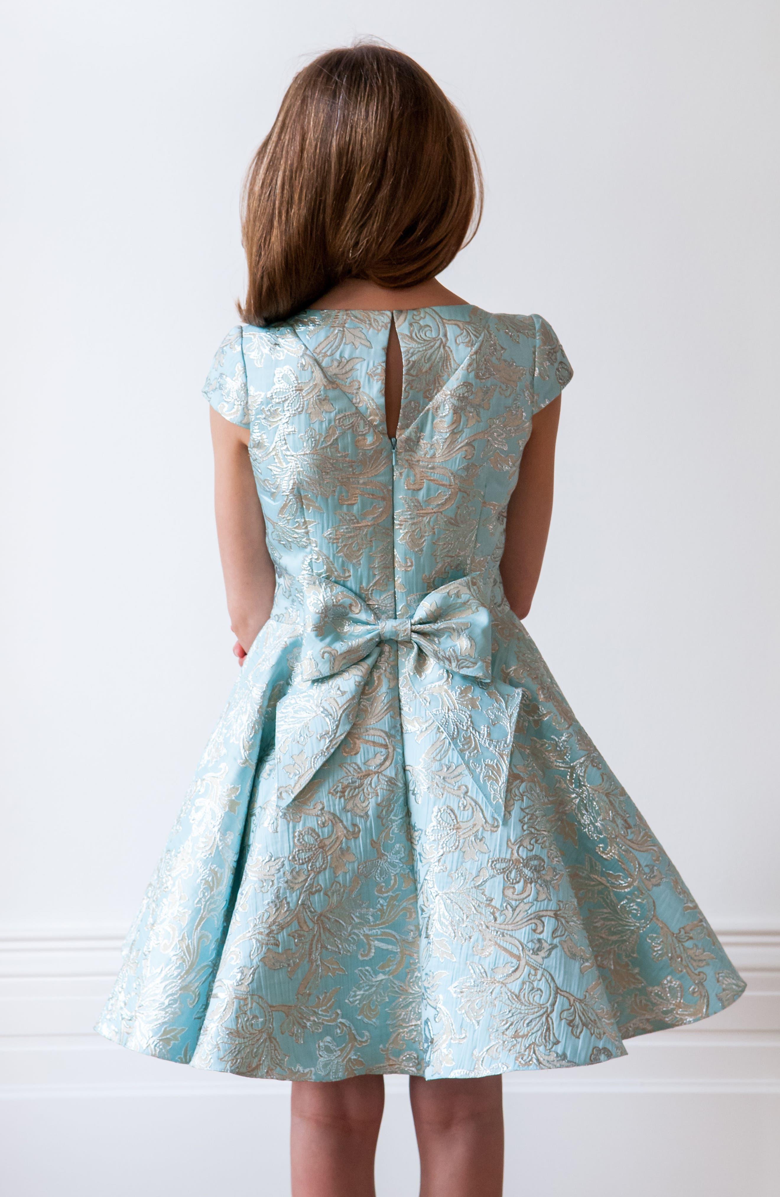 Floral Brocade Dress,                             Alternate thumbnail 5, color,                             440