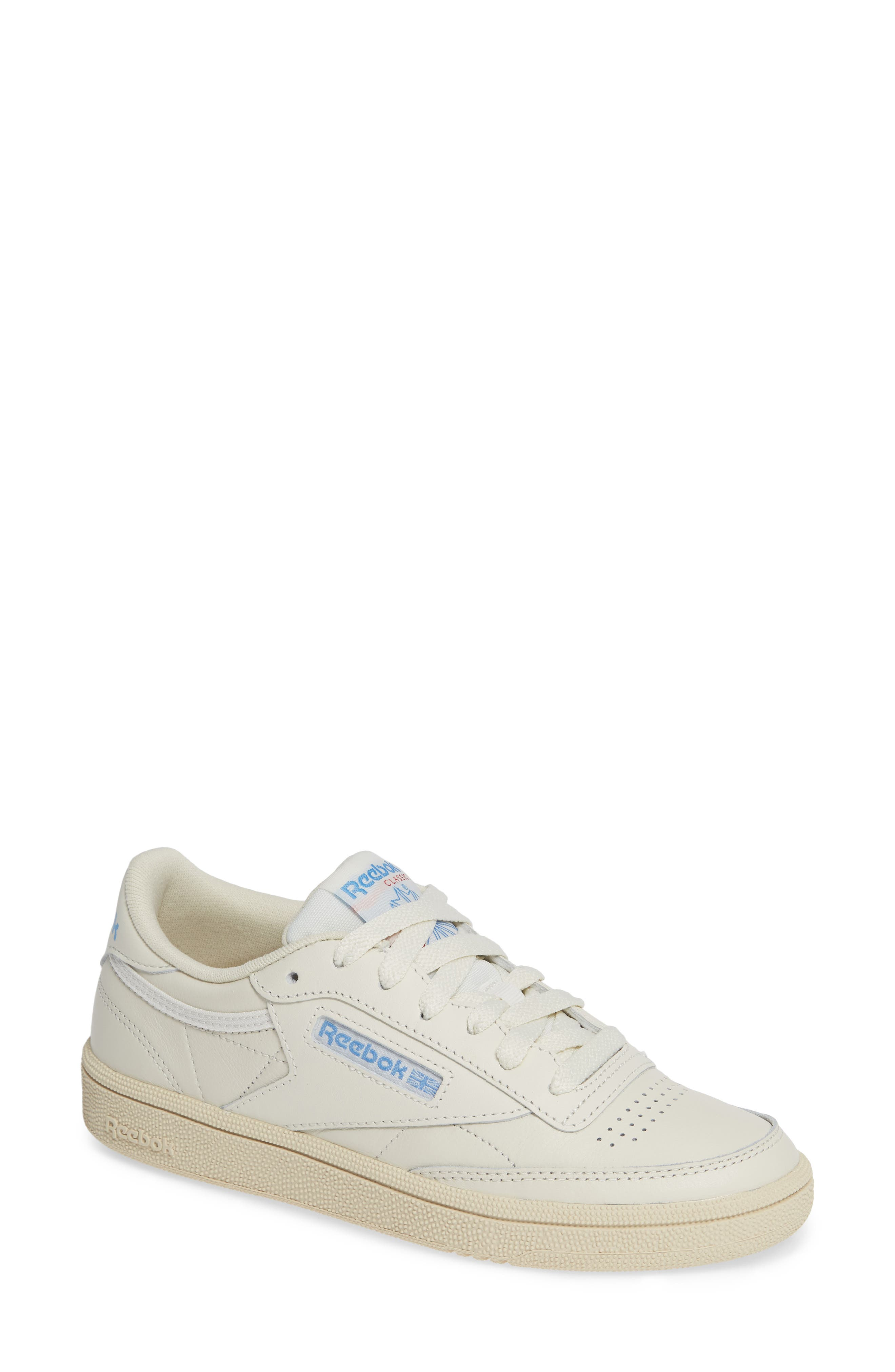 Club C 85 Sneaker,                         Main,                         color, CHALK/ WHITE/ BLUE/ RED