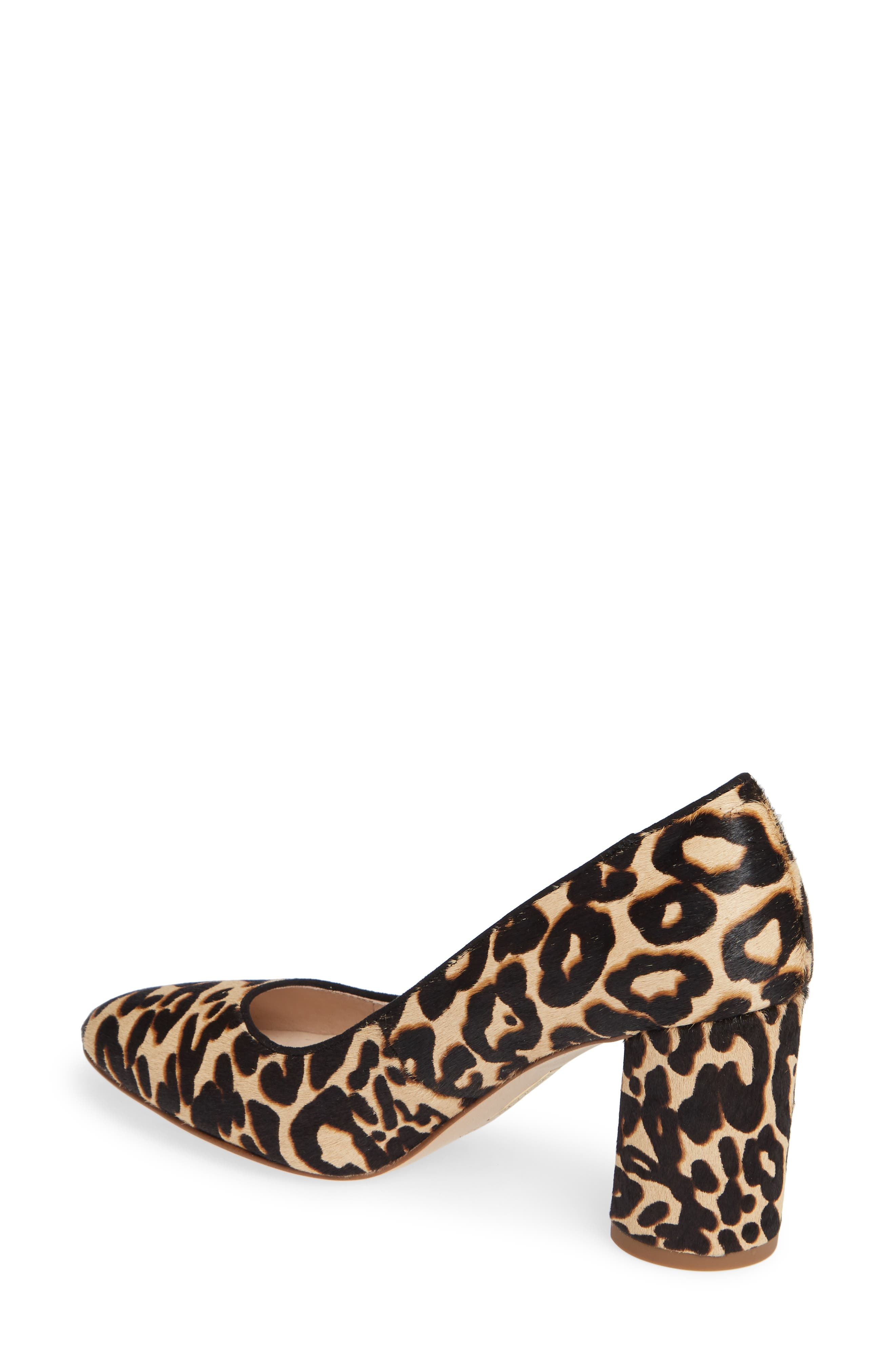 Jalzy Genuine Calf Hair Pump,                             Alternate thumbnail 2, color,                             LEOPARD