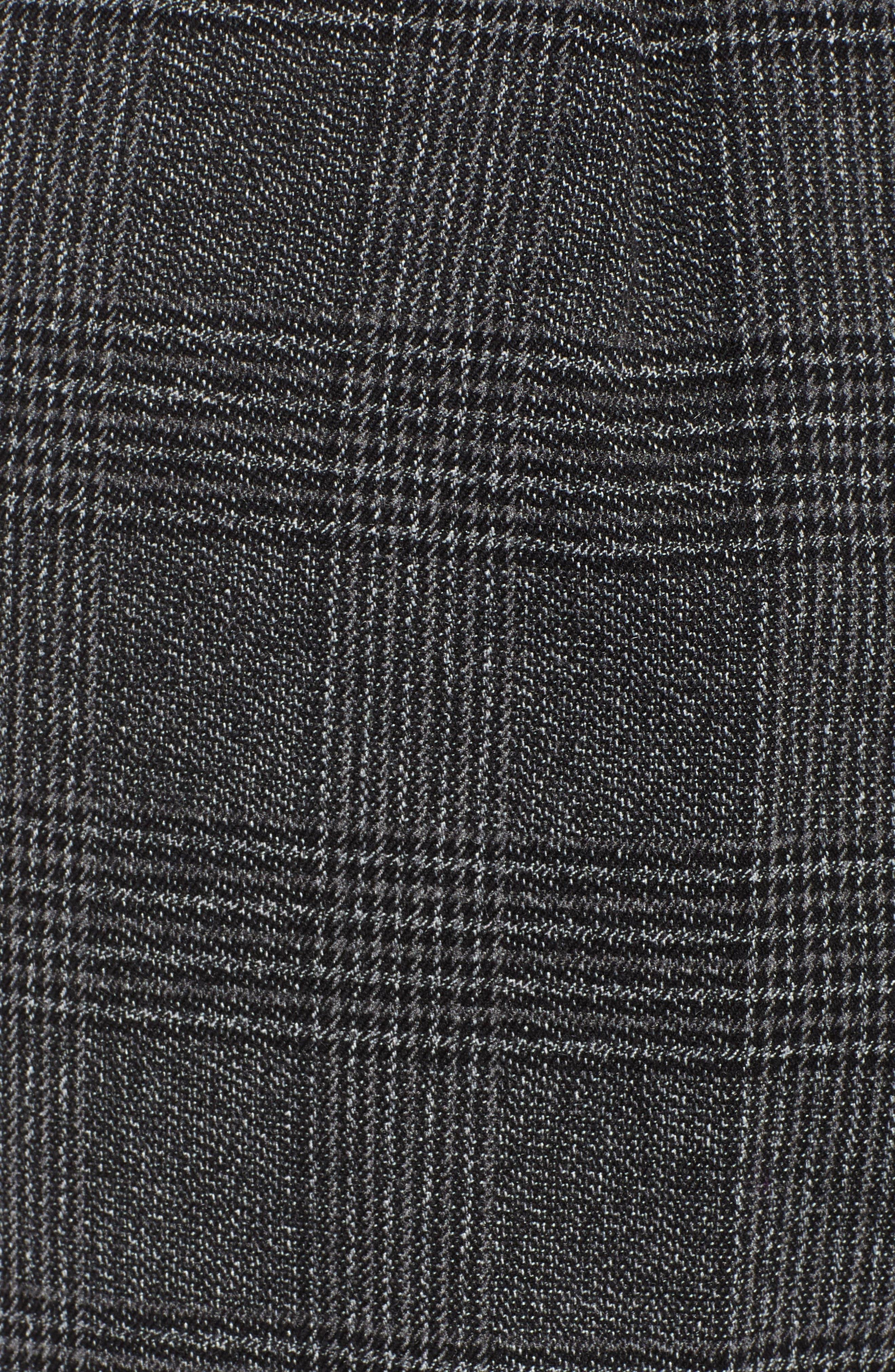 Plaid High Waist Wide Leg Pants,                             Alternate thumbnail 5, color,                             030