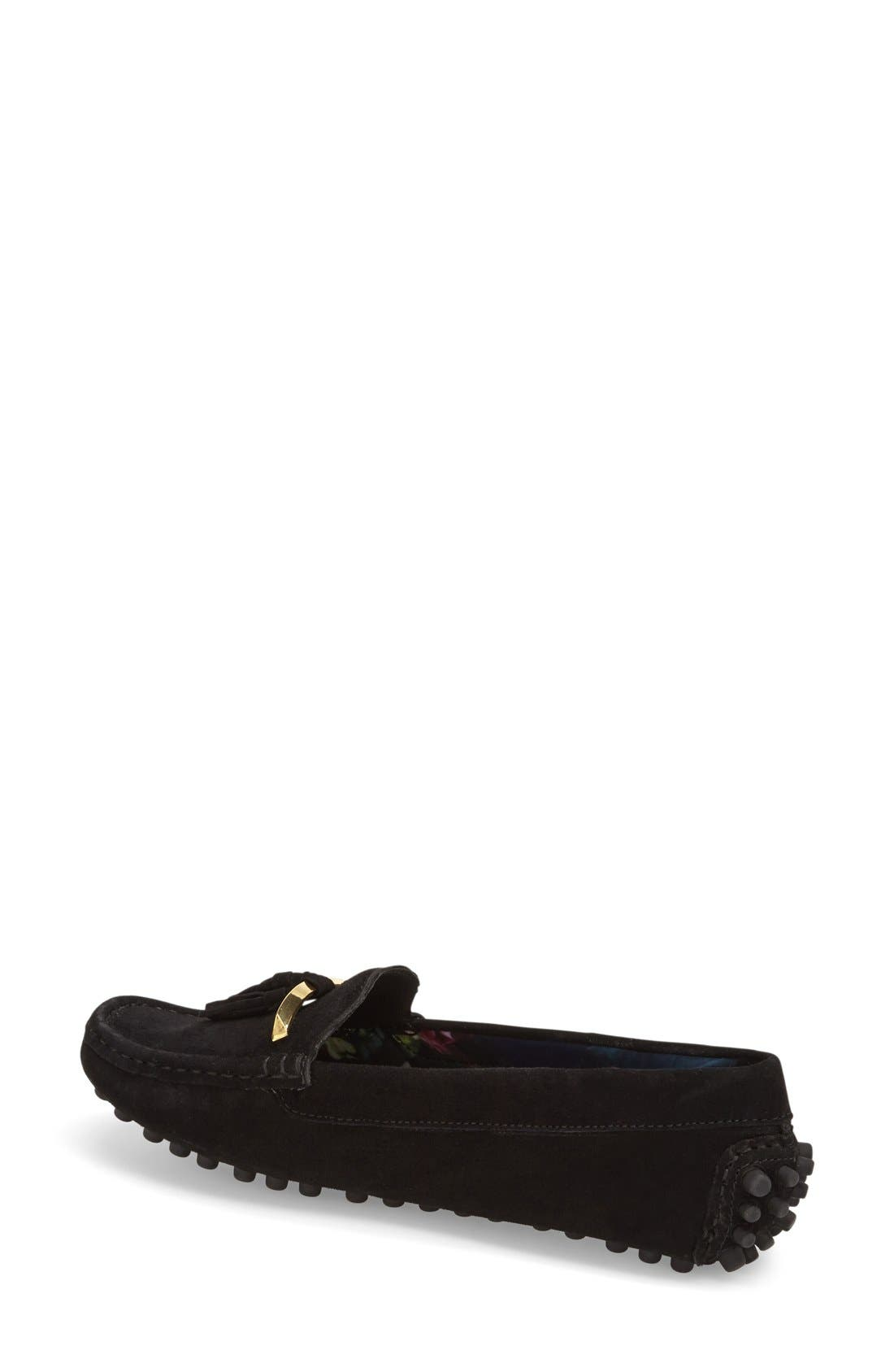 TED BAKER LONDON,                             'Harlii' Driving Loafer,                             Alternate thumbnail 3, color,                             010