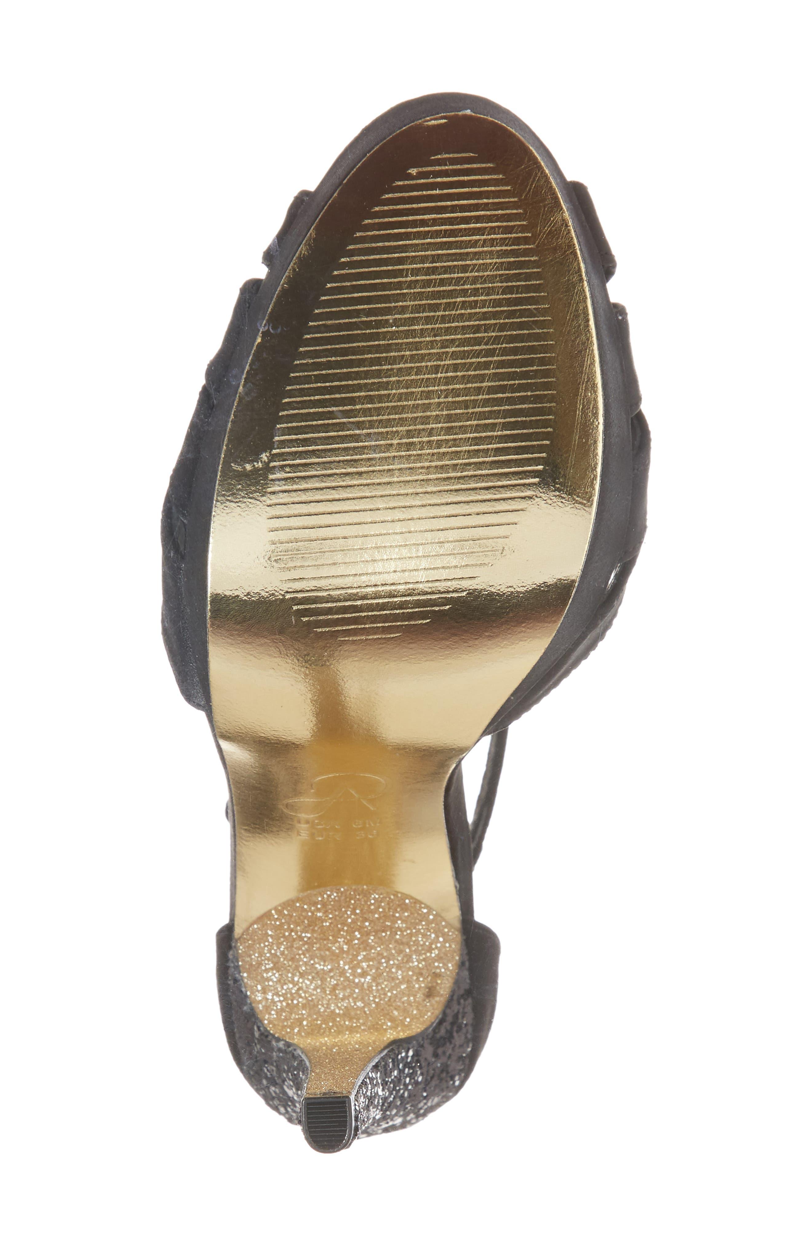Samoa Platform Sandal,                             Alternate thumbnail 6, color,                             001