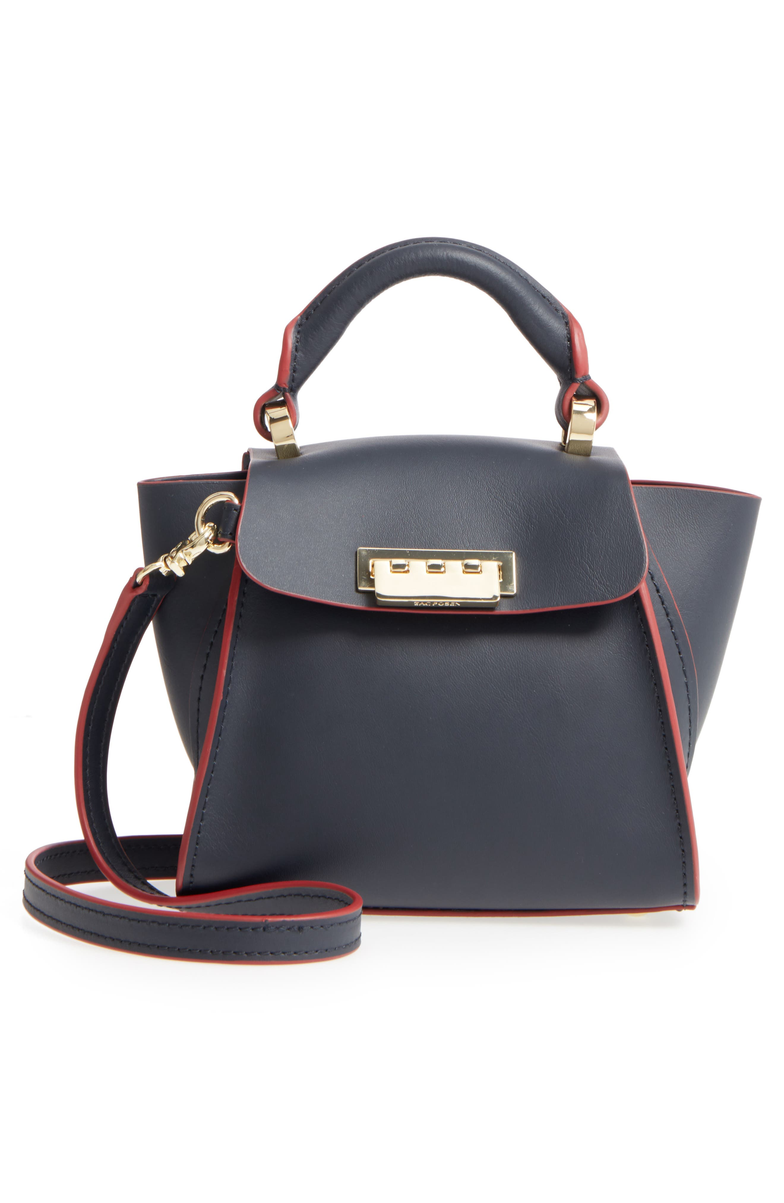 Eartha Iconic Calfskin Leather Satchel with Novelty Strap,                             Alternate thumbnail 3, color,                             410