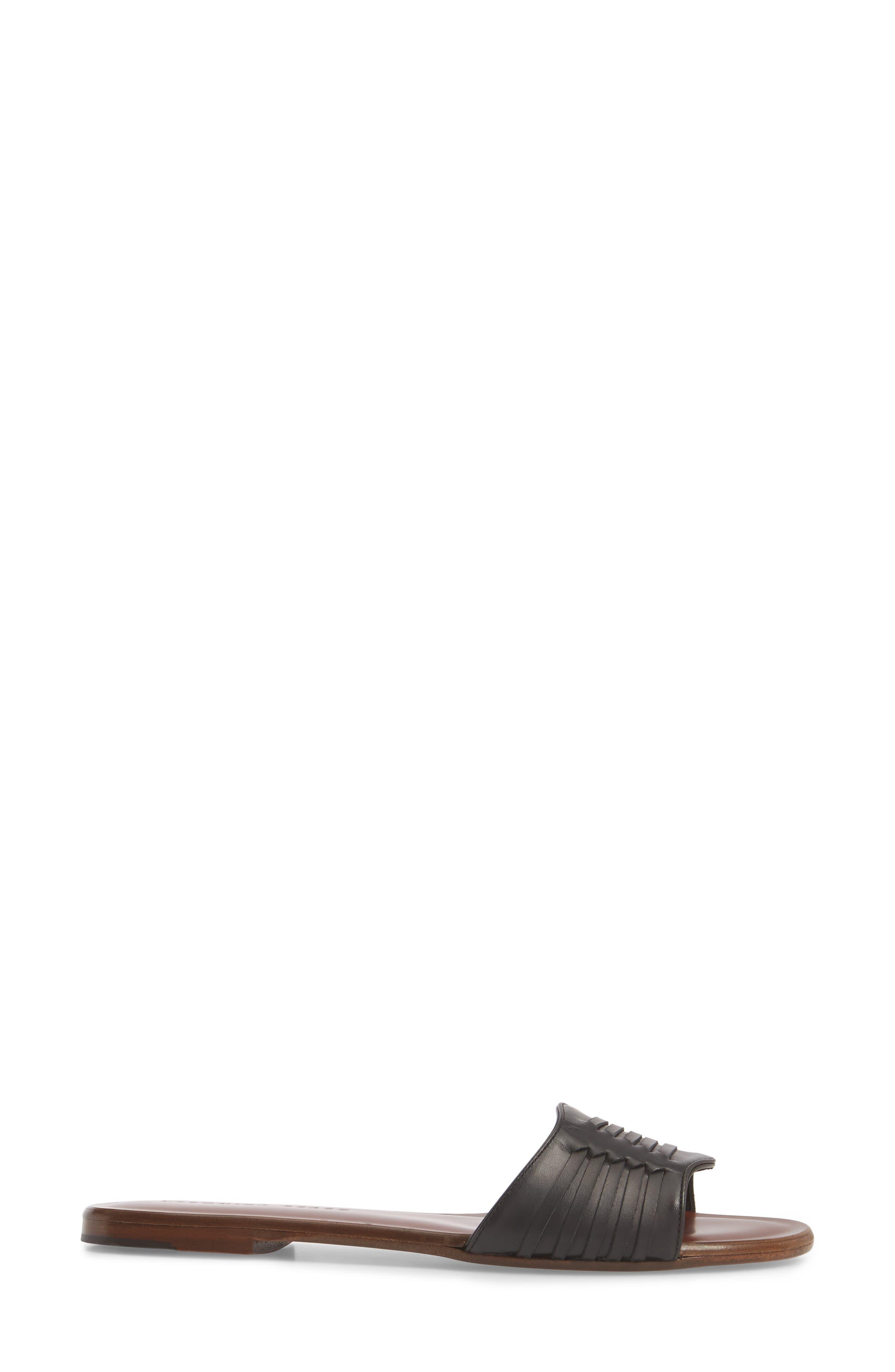Faven Woven Slide Sandal,                             Alternate thumbnail 3, color,                             001