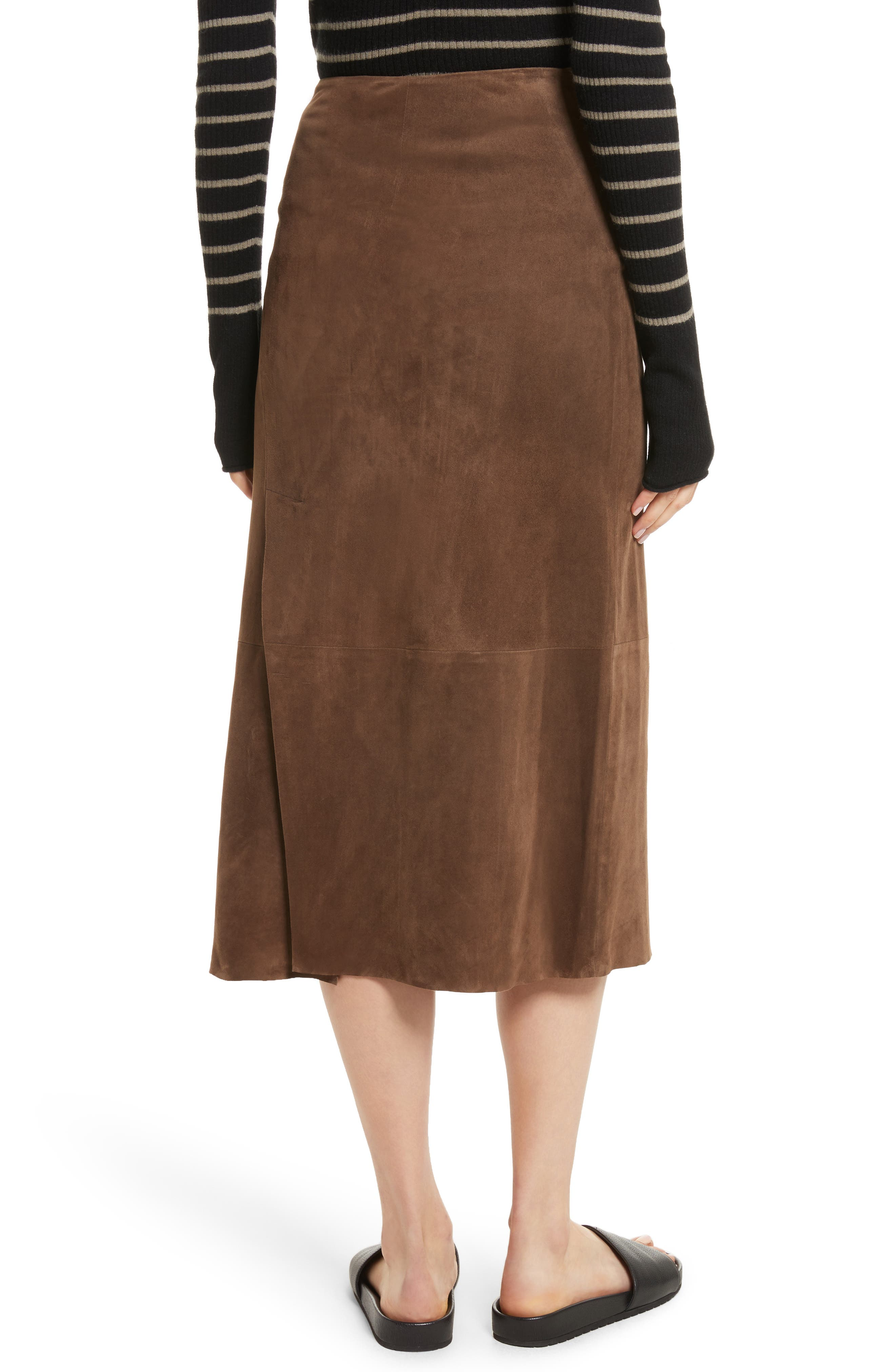 Suede Slit Skirt,                             Alternate thumbnail 2, color,                             242