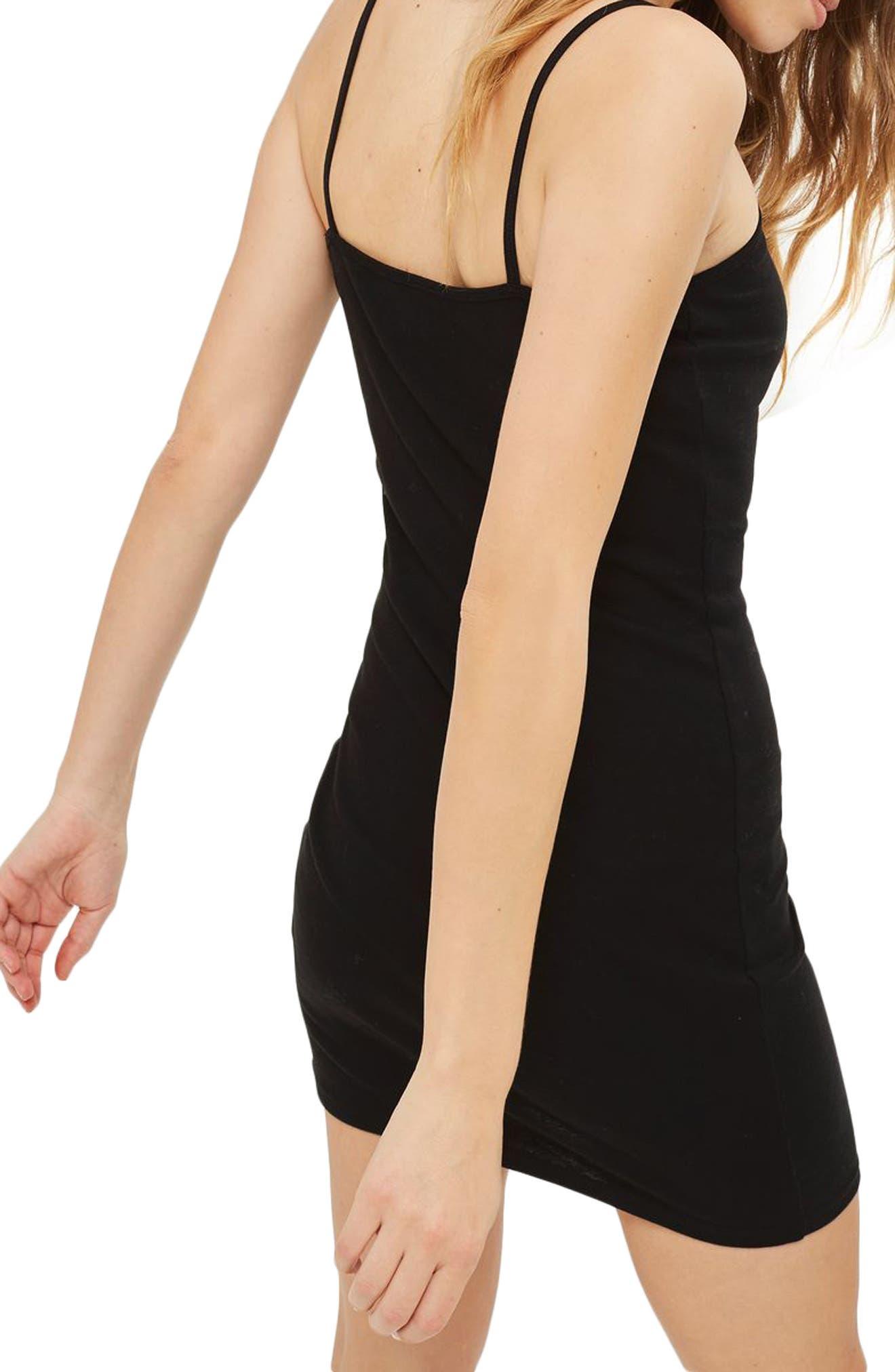 Cotton Jersey Body-Con Dress,                             Alternate thumbnail 2, color,