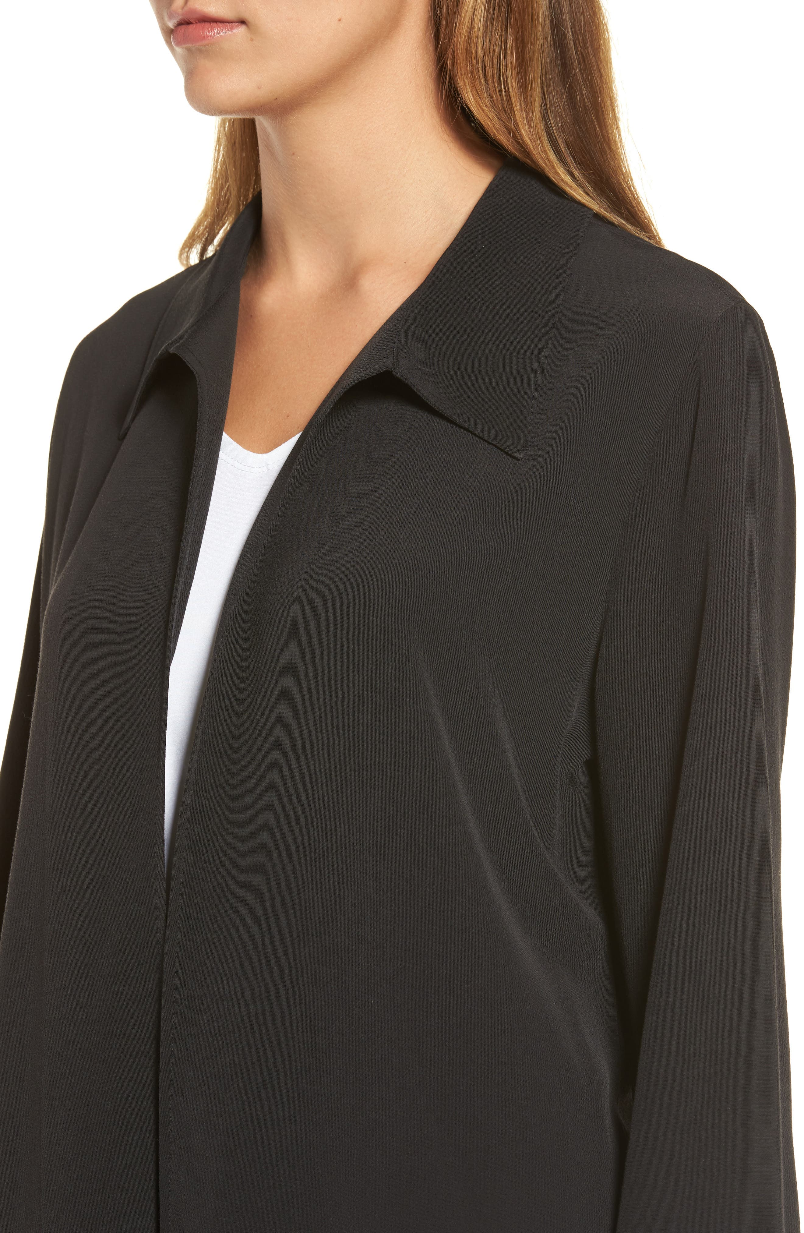 Open Front Duster Jacket,                             Alternate thumbnail 6, color,                             001