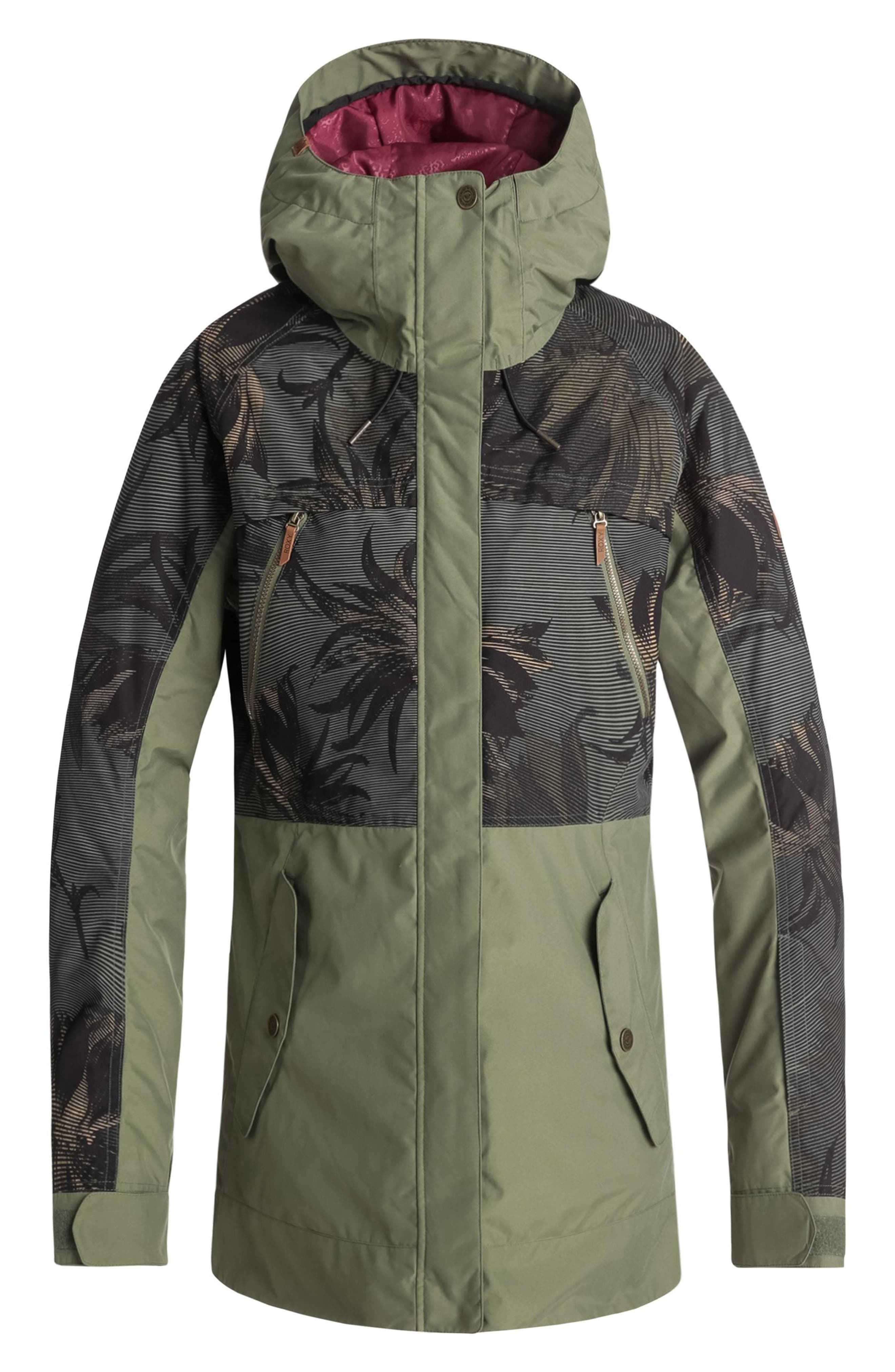 Waterproof DryFlight<sup>®</sup> Thinsulate<sup>®</sup> Insulated Snow Jacket,                             Main thumbnail 1, color,                             FOUR LEAF CLOVER-SWELL FLOWERS