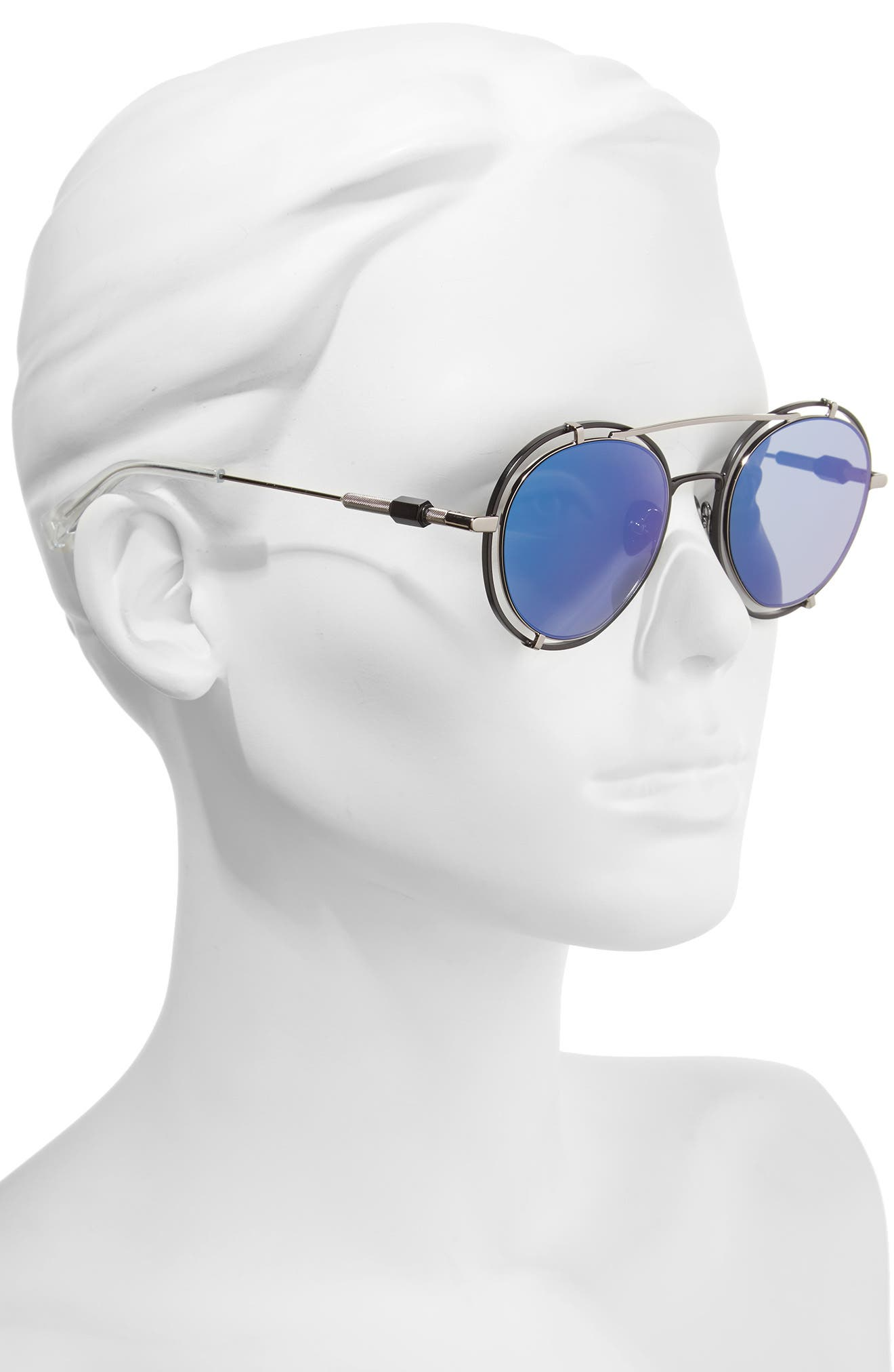 Pyn 55mm Mirrored Sunglasses,                             Alternate thumbnail 2, color,                             001