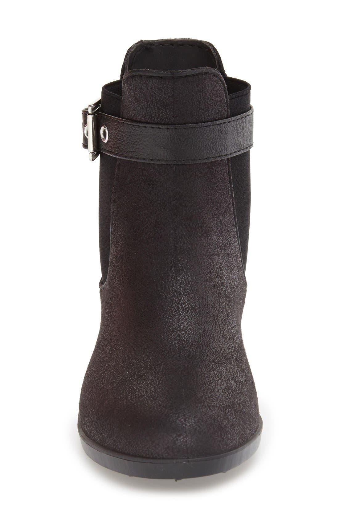 DÄV,                             'Glasgow' Water Resistant Chelsea Boot,                             Alternate thumbnail 3, color,                             BLACK