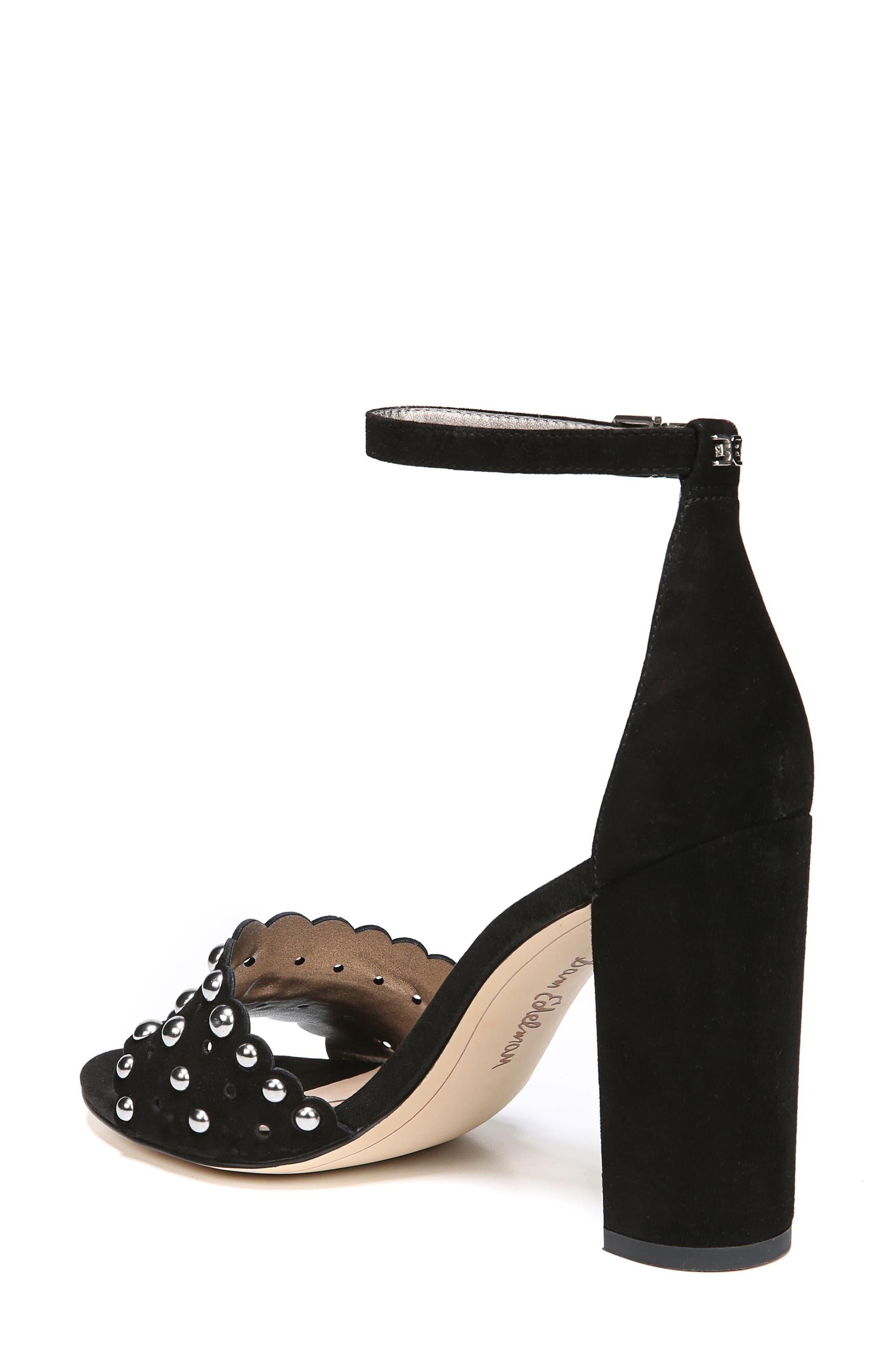 Yaria Studded Block Heel Sandal,                             Alternate thumbnail 2, color,                             001