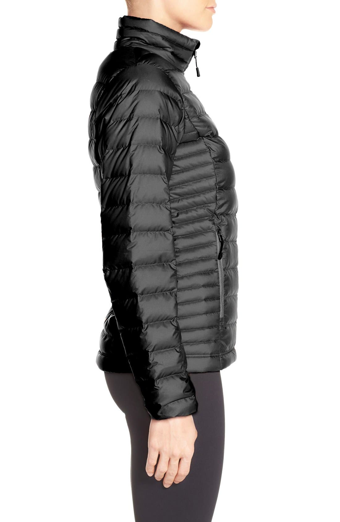 Packable Down Jacket,                             Alternate thumbnail 3, color,                             BLACK