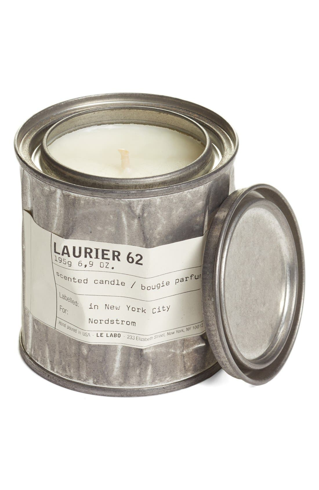 'Laurier 62' Vintage Candle Tin,                             Main thumbnail 1, color,                             NO COLOR