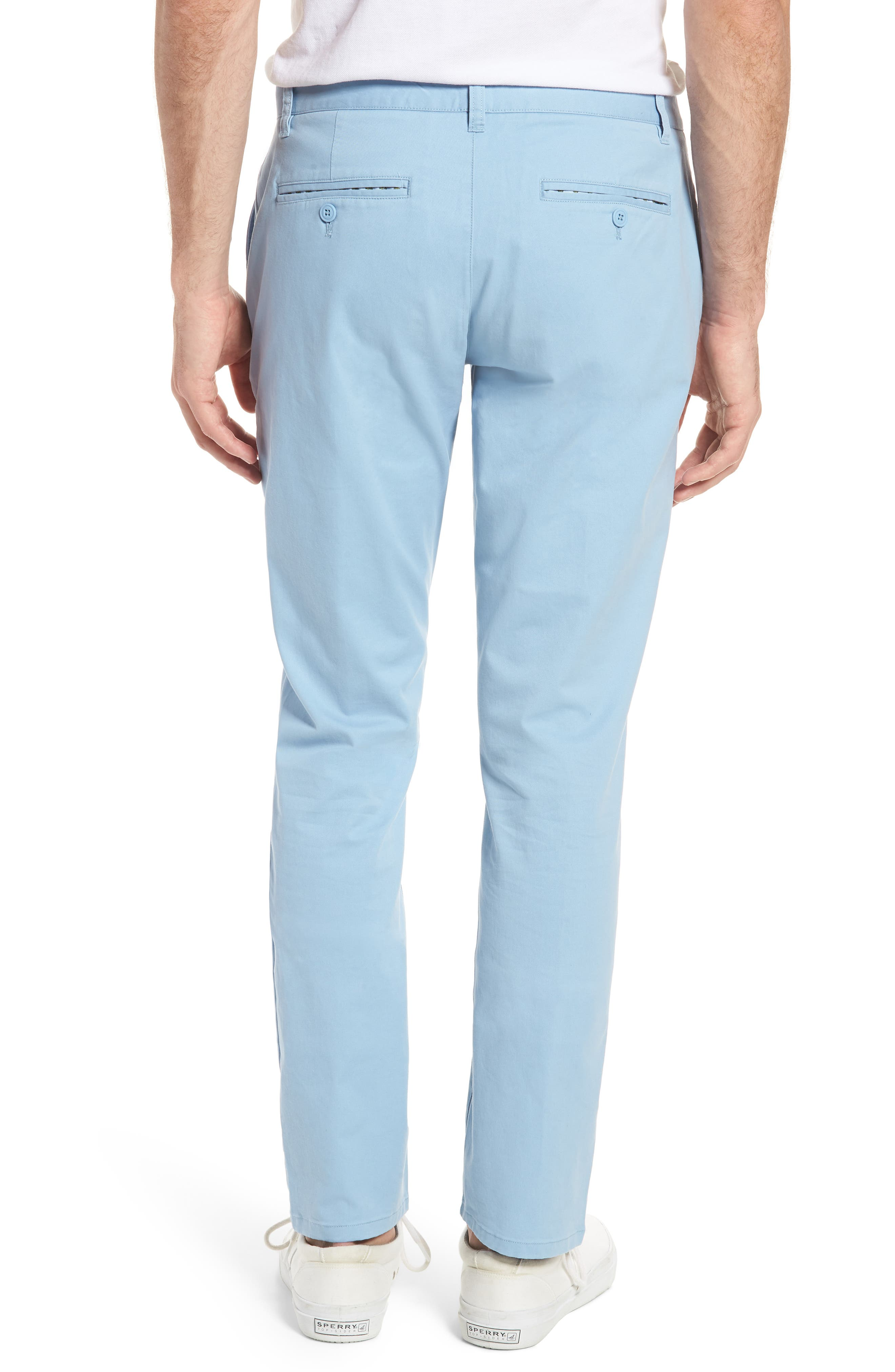 Tailored Fit Washed Stretch Cotton Chinos,                             Alternate thumbnail 47, color,