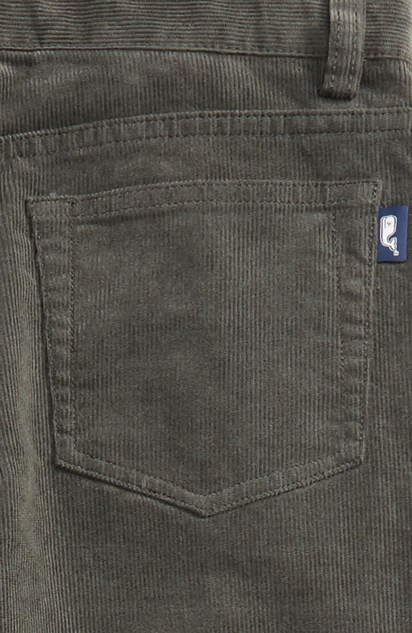 Straight Leg Corduroy Pants,                             Alternate thumbnail 9, color,