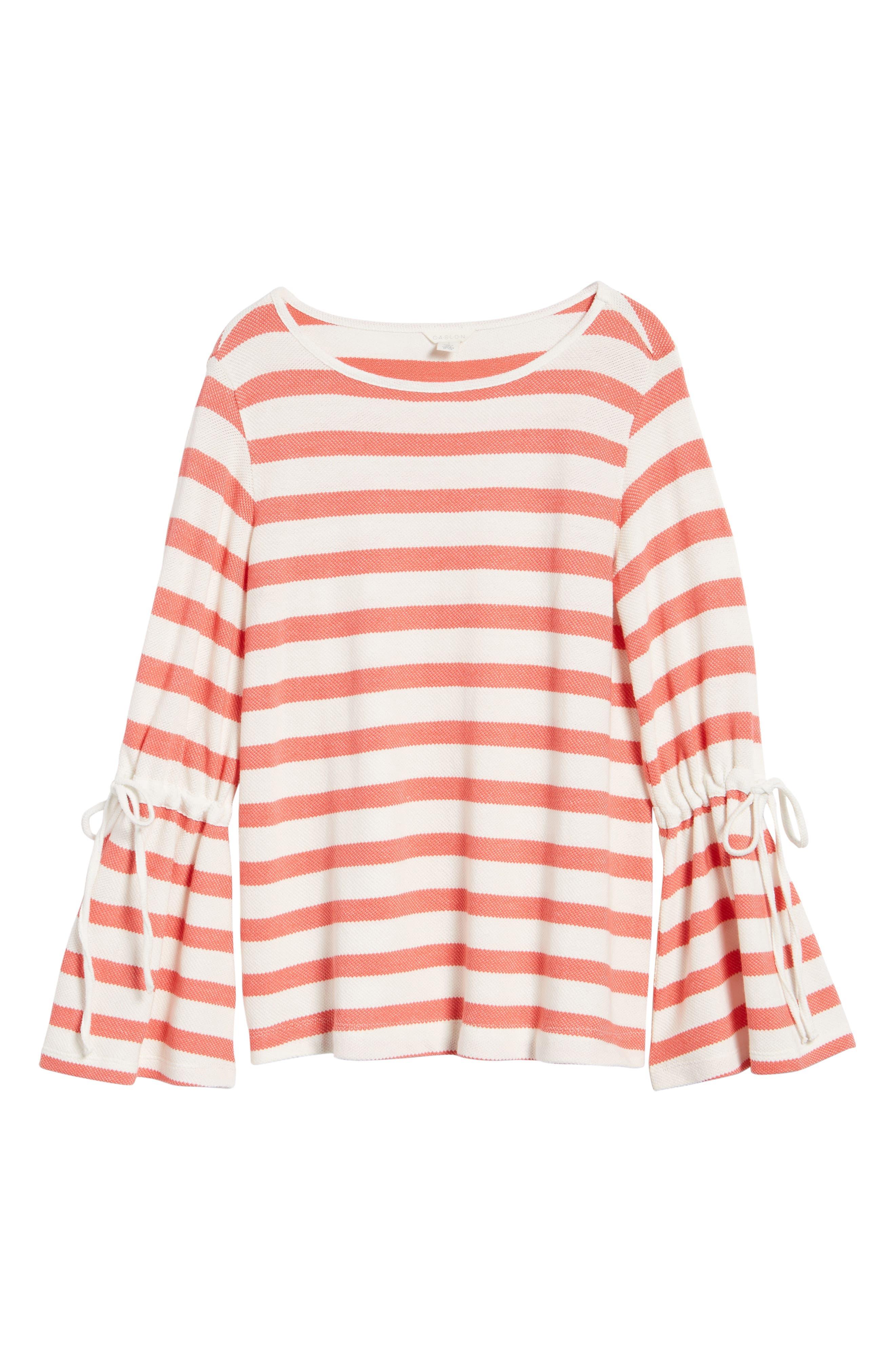 Stripe Bell Sleeve Top,                             Alternate thumbnail 12, color,