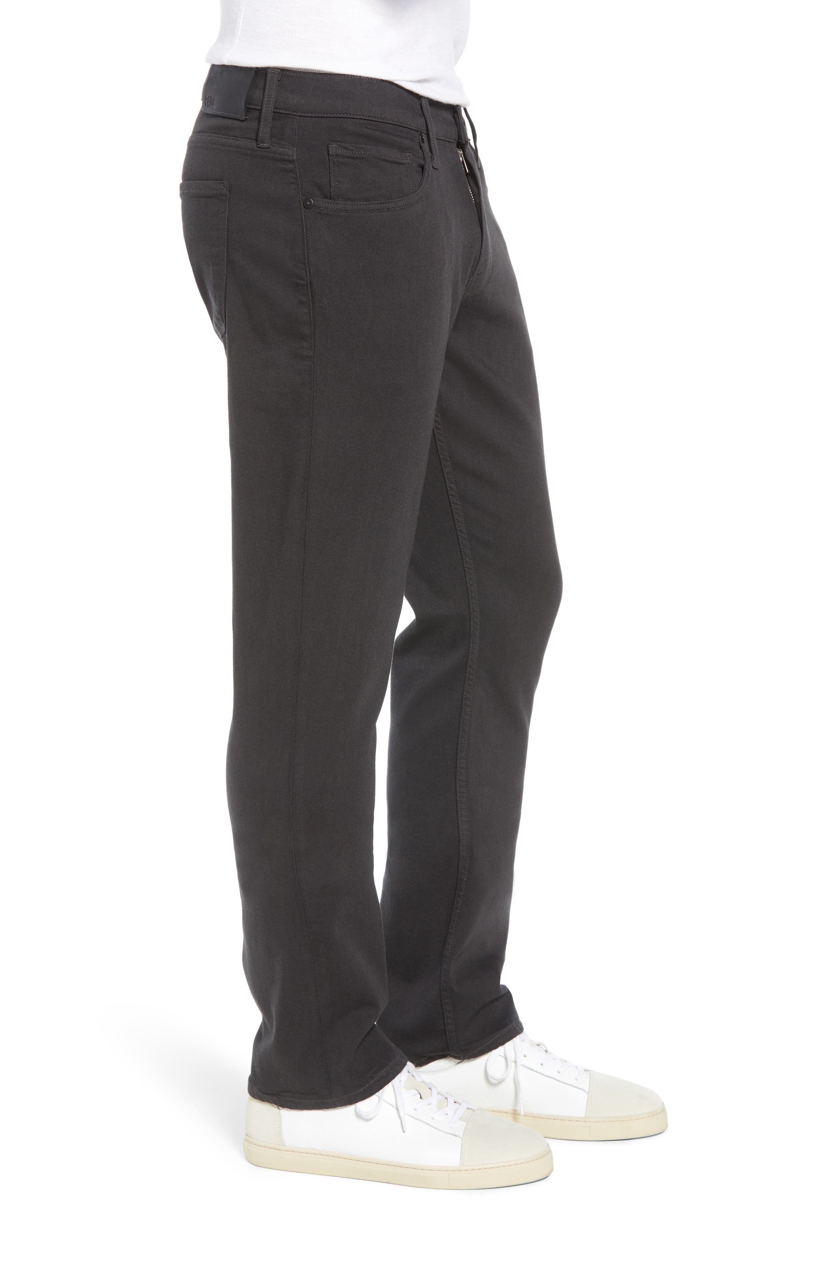 Transcend - Normandie Straight Leg Jeans,                             Alternate thumbnail 3, color,                             MIDNIGHT GREY