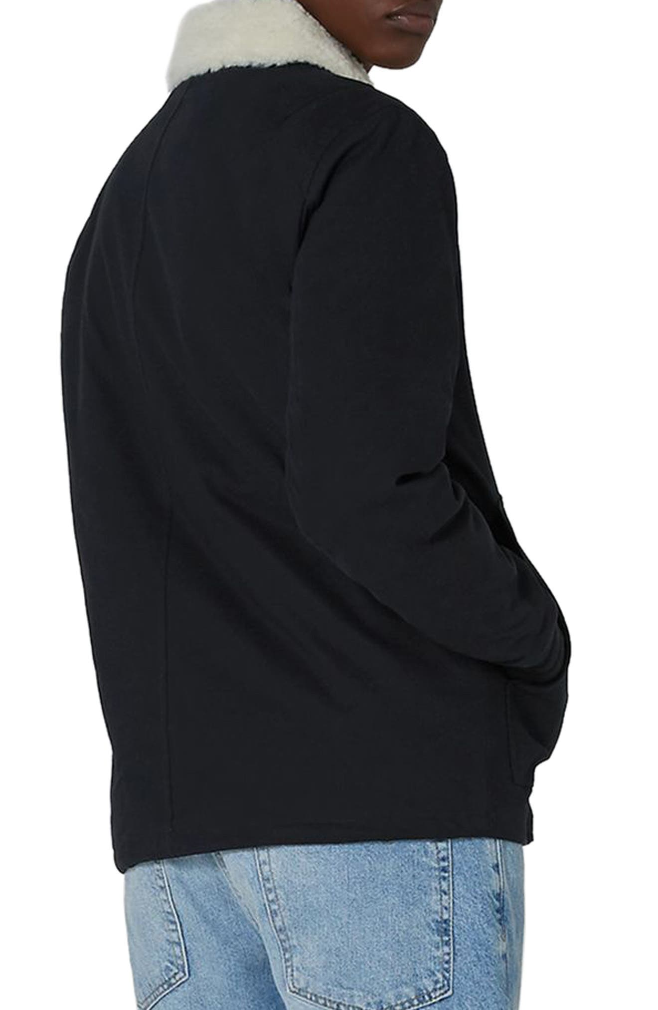 Borg Collar Coach Jacket,                             Alternate thumbnail 2, color,                             401