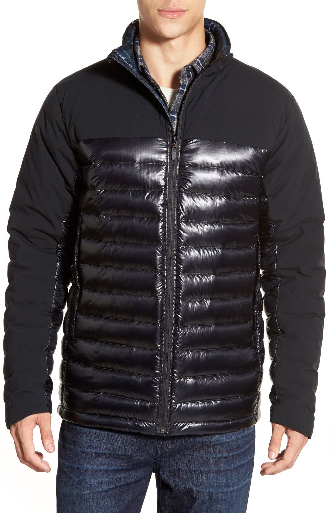 Cole Haan + Mountain Hardwear 'ZeroGrand' Quilted Down Commuter Jacket, Main, color, 001