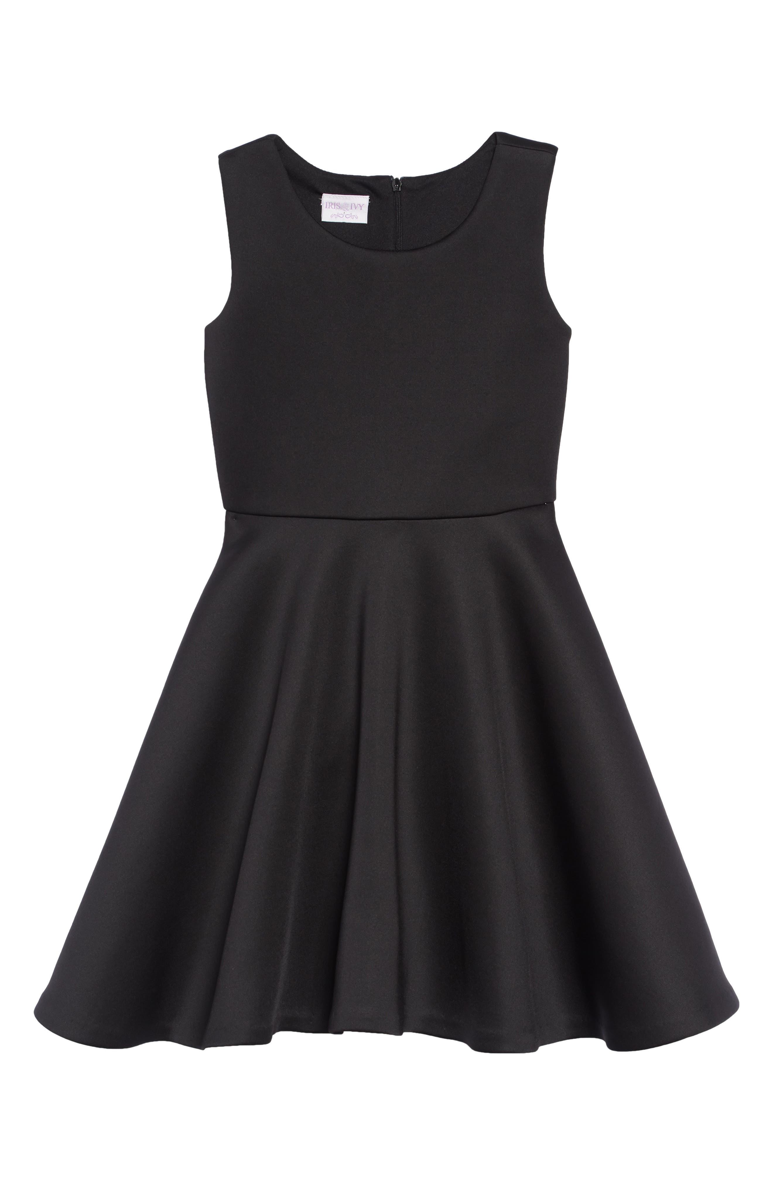 Scuba Tank Dress,                             Main thumbnail 1, color,                             BLACK