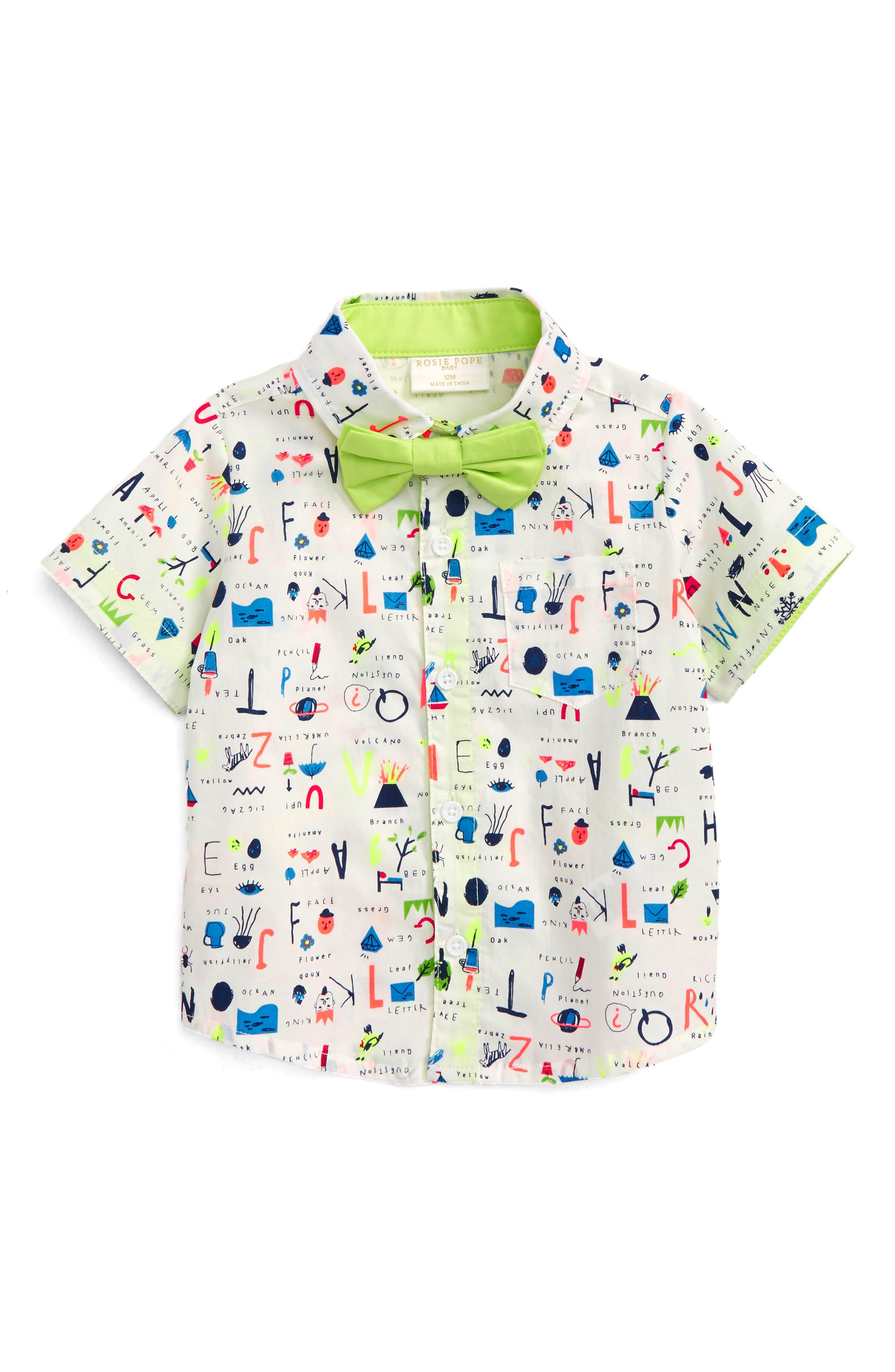 School Pendant Dress Shirt,                             Main thumbnail 1, color,                             100