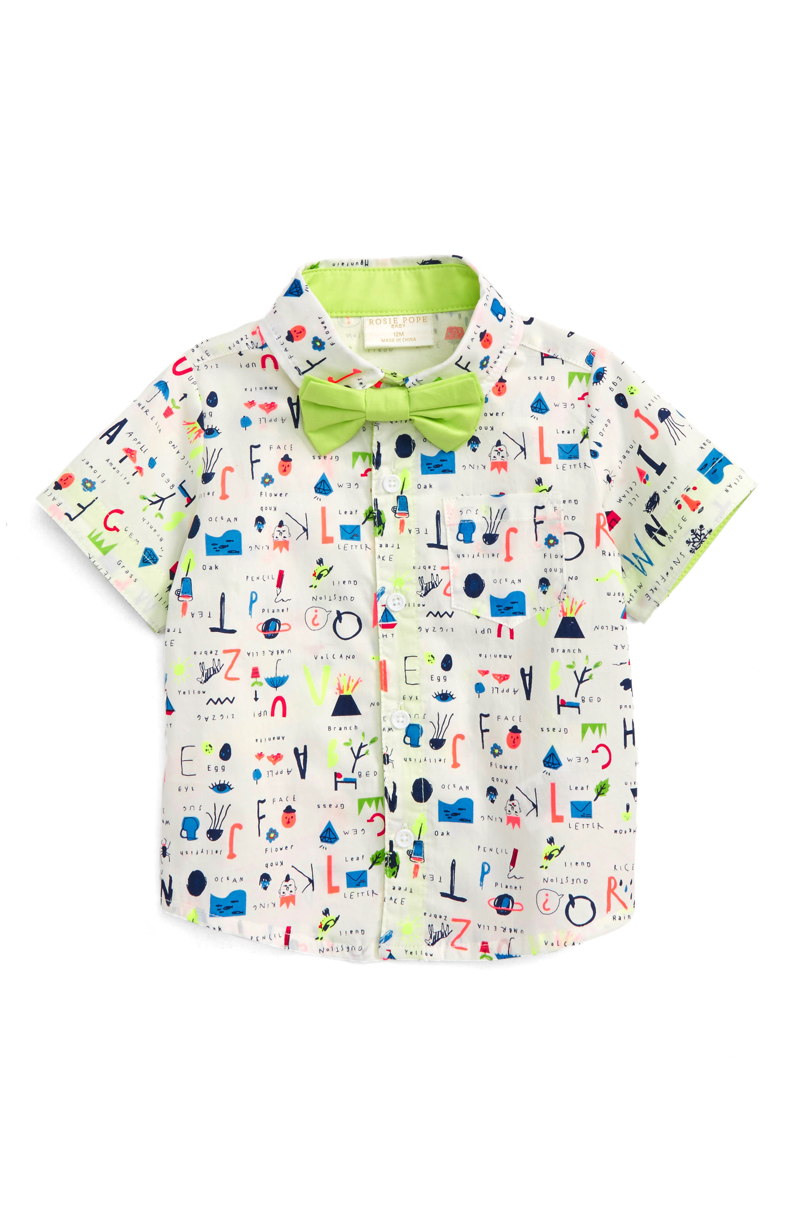 School Pendant Dress Shirt,                         Main,                         color, 100