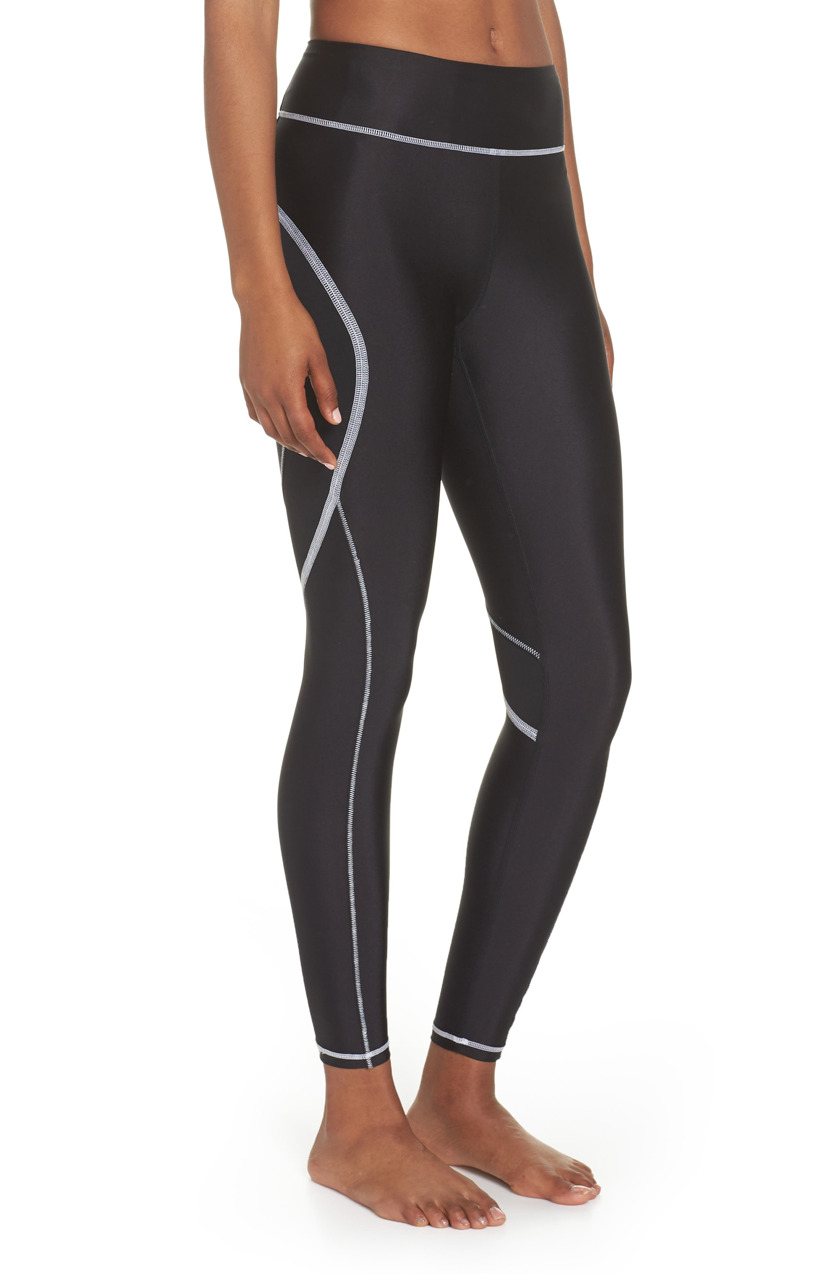 Surf Tights,                             Alternate thumbnail 3, color,                             BLACK/ WHITE