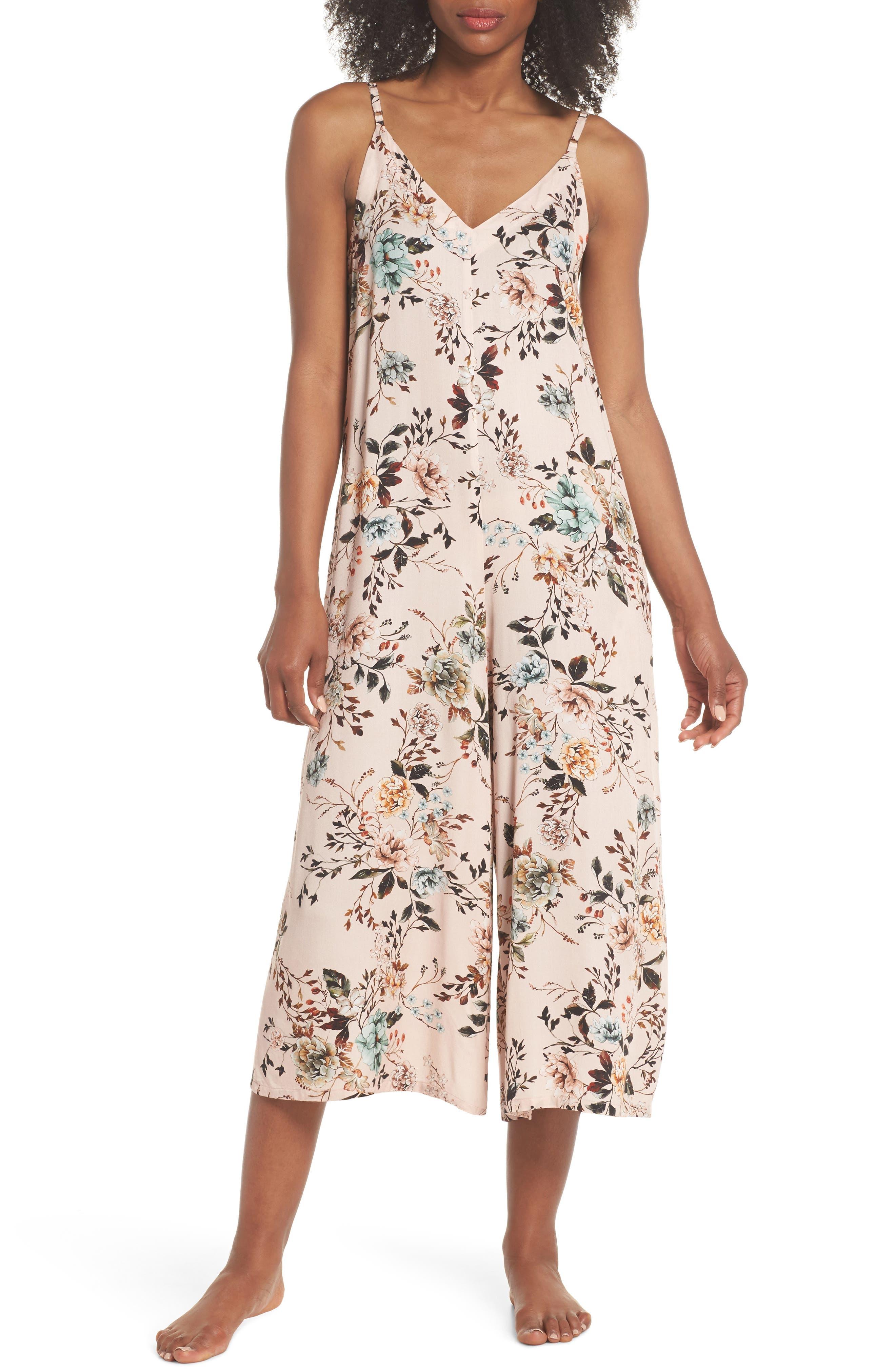 Floral Santi Crop Jumpsuit,                             Main thumbnail 1, color,                             950