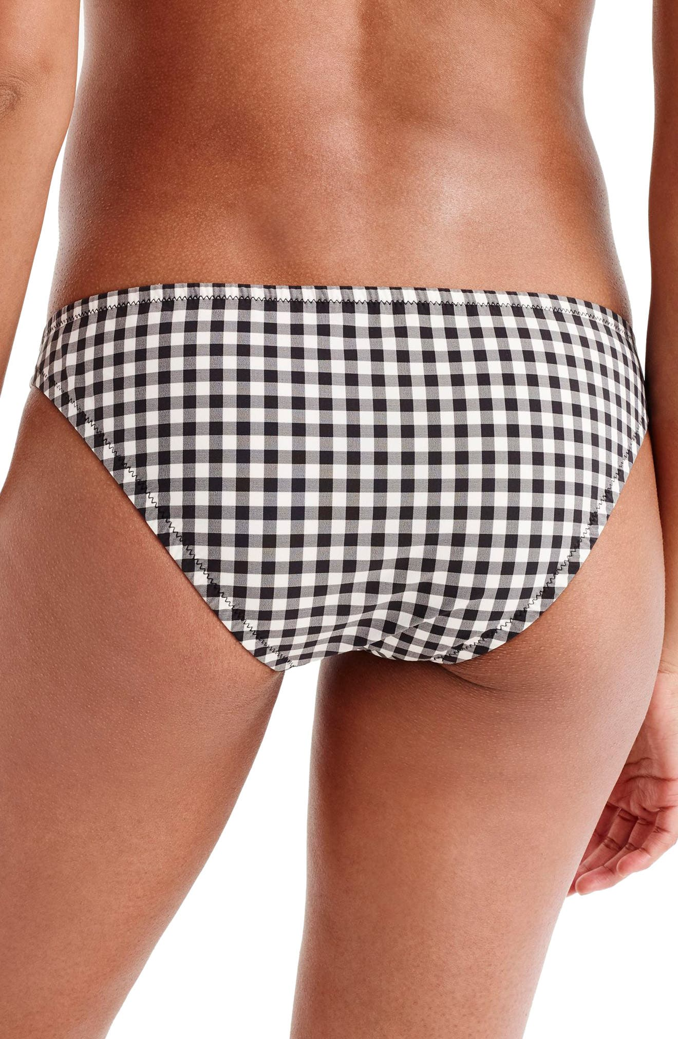 Cali Hipster Bikini Bottoms,                             Alternate thumbnail 2, color,                             BLACK/ IVORY