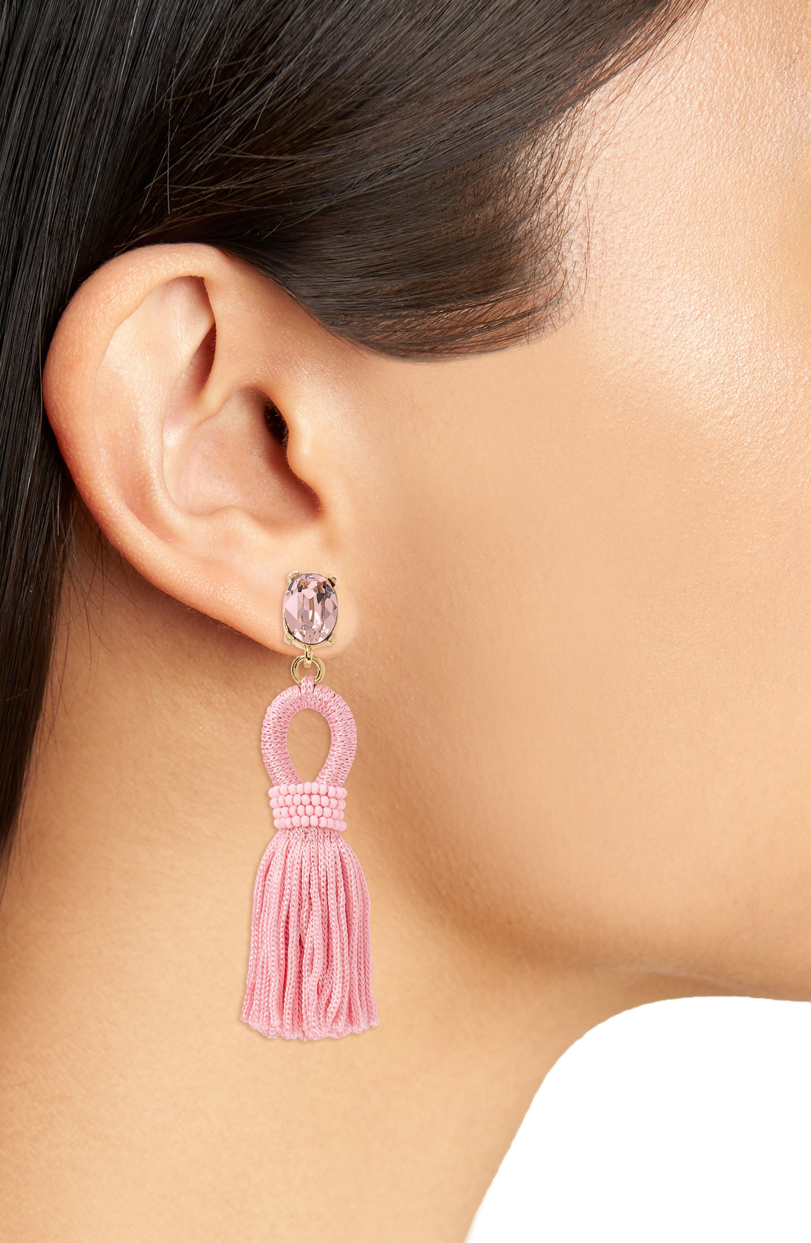 Silk Tassel Drop Earrings,                             Alternate thumbnail 15, color,