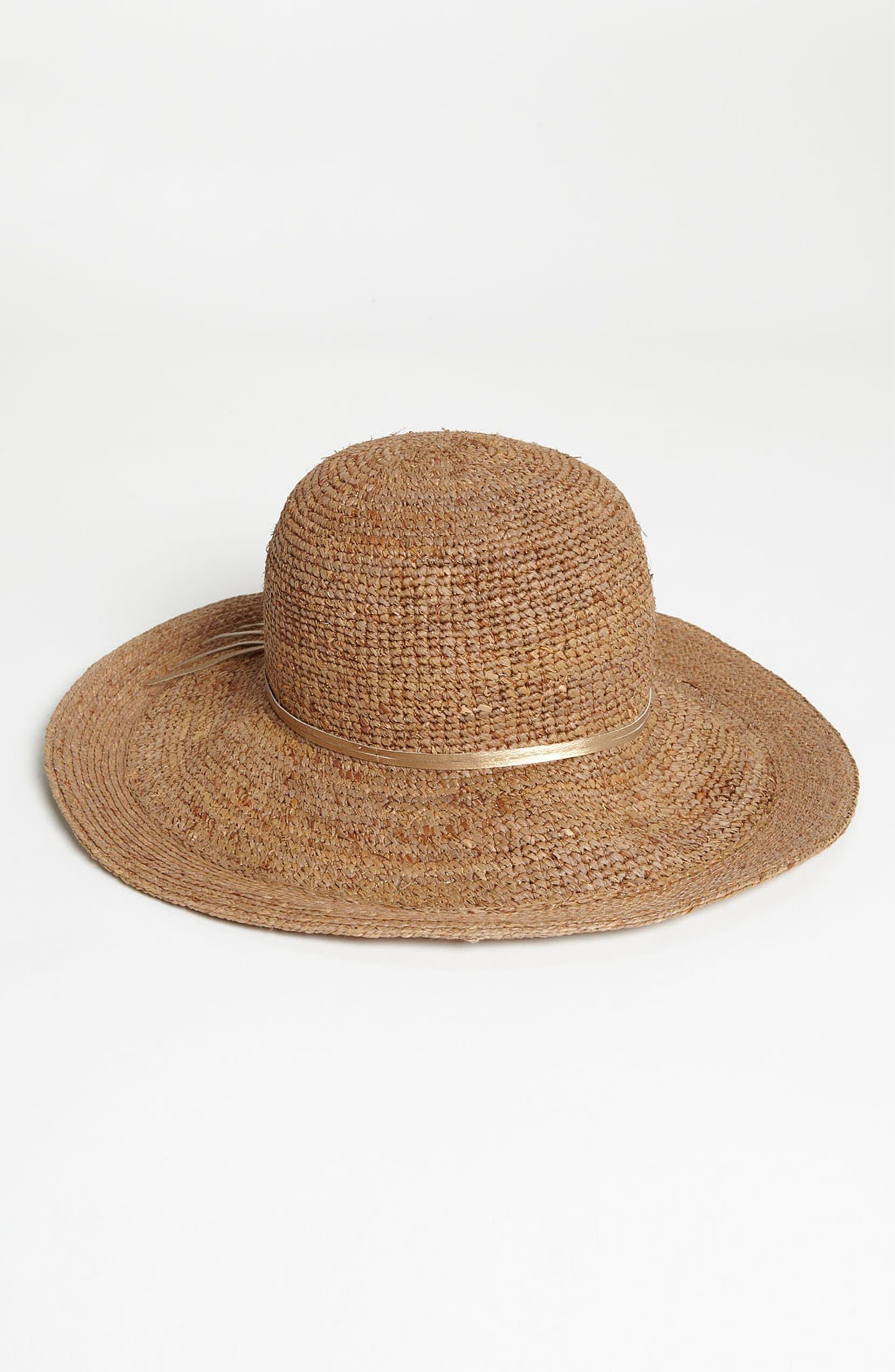 Flora Bella Crochet Raffia Sun Hat  8715fc1d8500